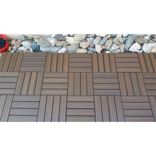 Shop Superwood Deck Tiles Composite Cedar Snap To Install No