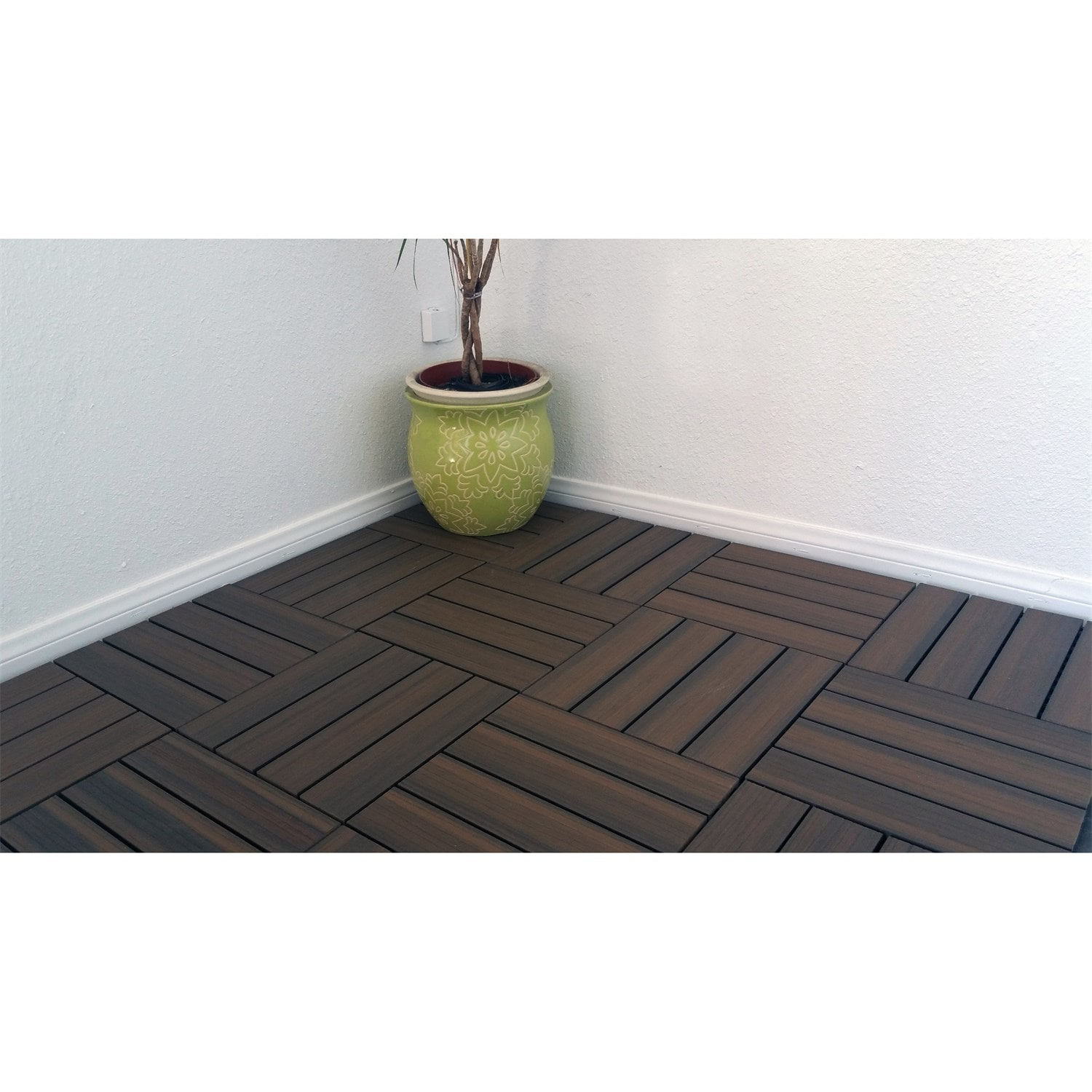 Superwood Deck Tiles Composite Cedar Snap To Install No Maintenance Box Of 11 Sqft On Free Shipping Today 10758802