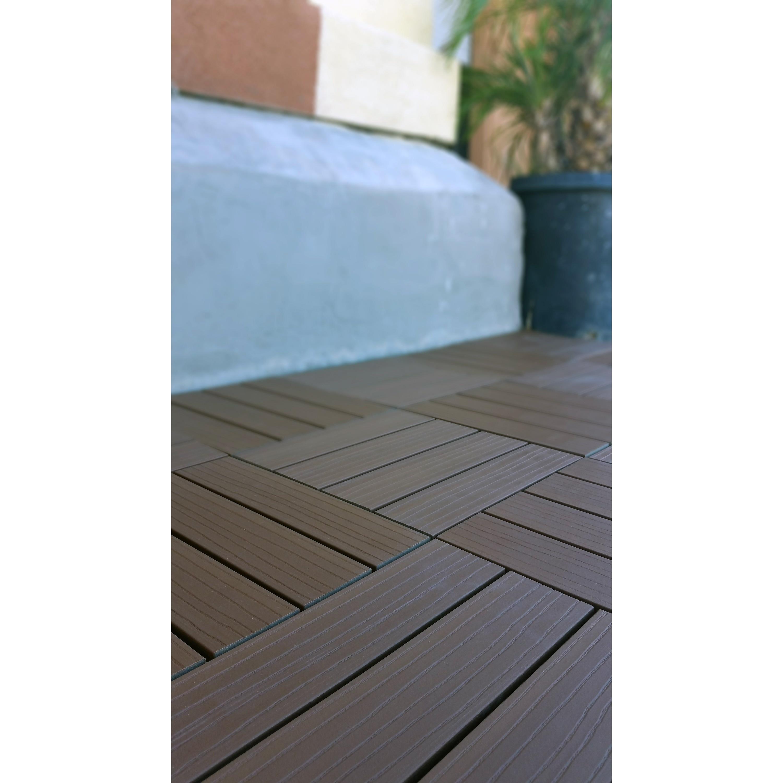 SuperWood Deck Tiles, Composite Cedar, Snap To Install, No ...