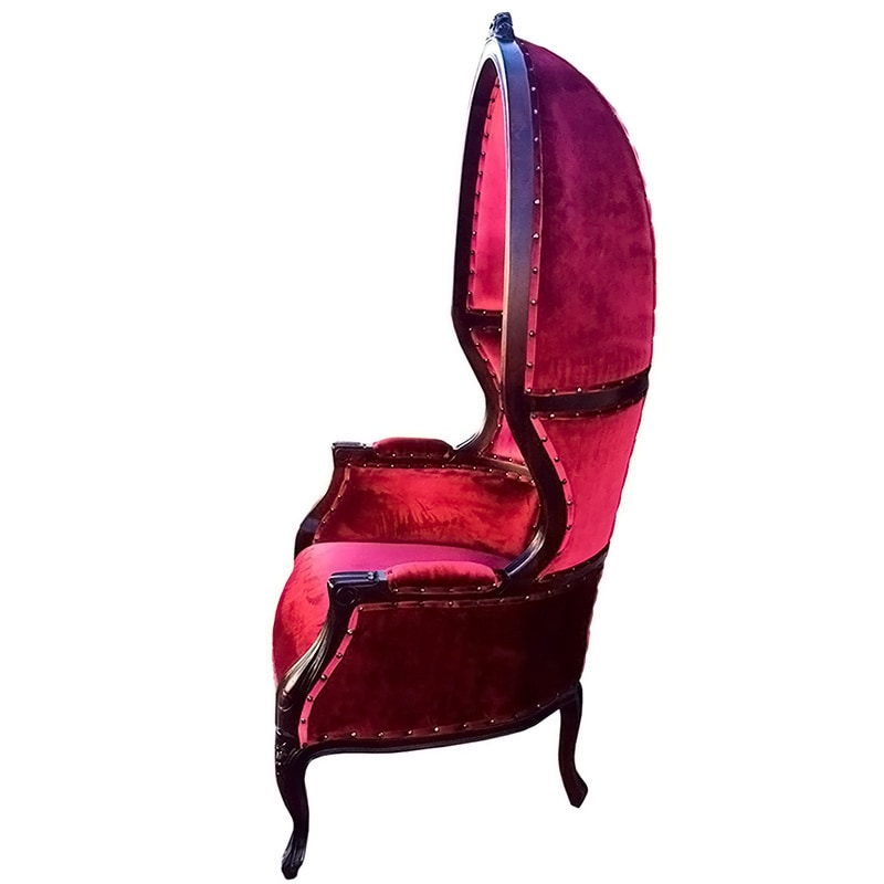 Shop D Art Louis Dome Grandfather Chair (Indonesia)   Free Shipping Today    Overstock.com   10759294