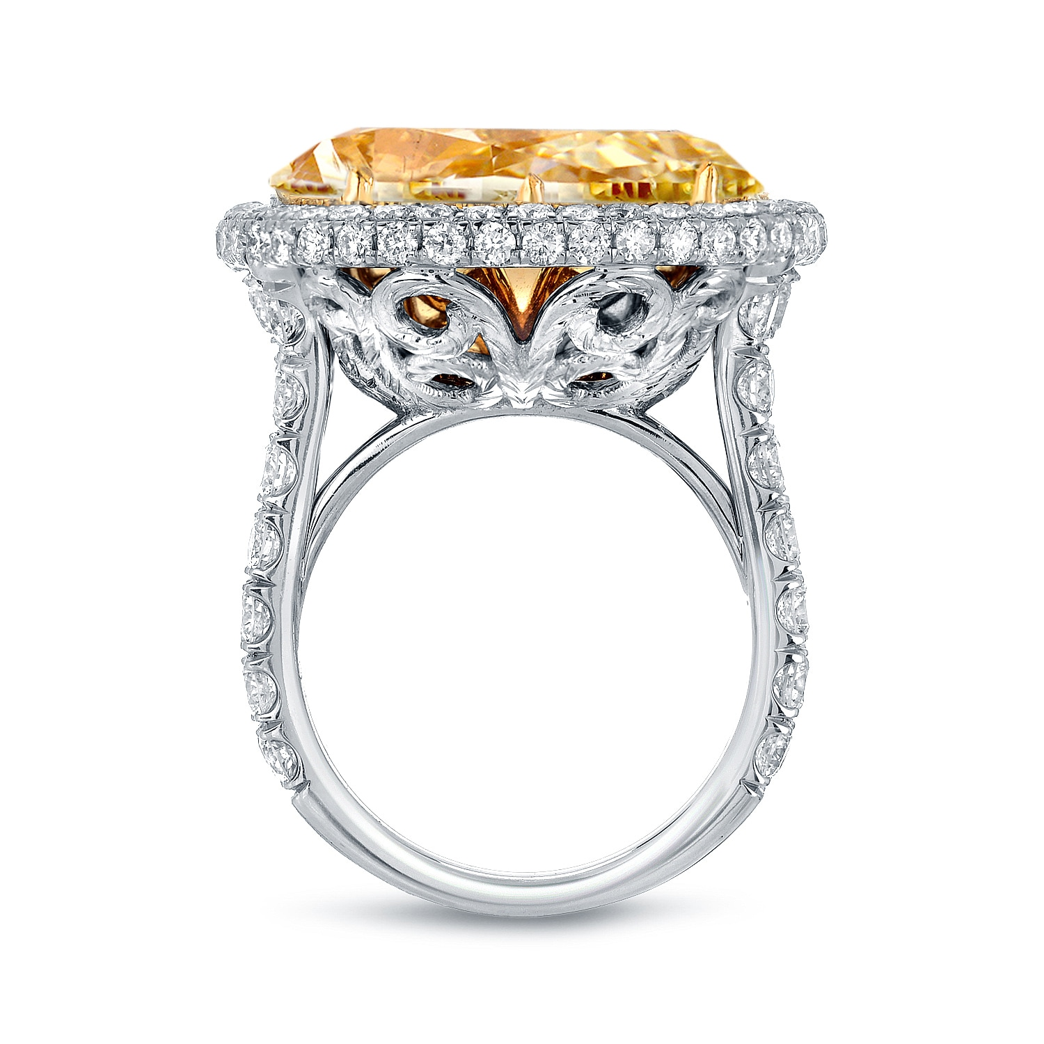 engagement gold halo rings ring in oval ct diamond g white