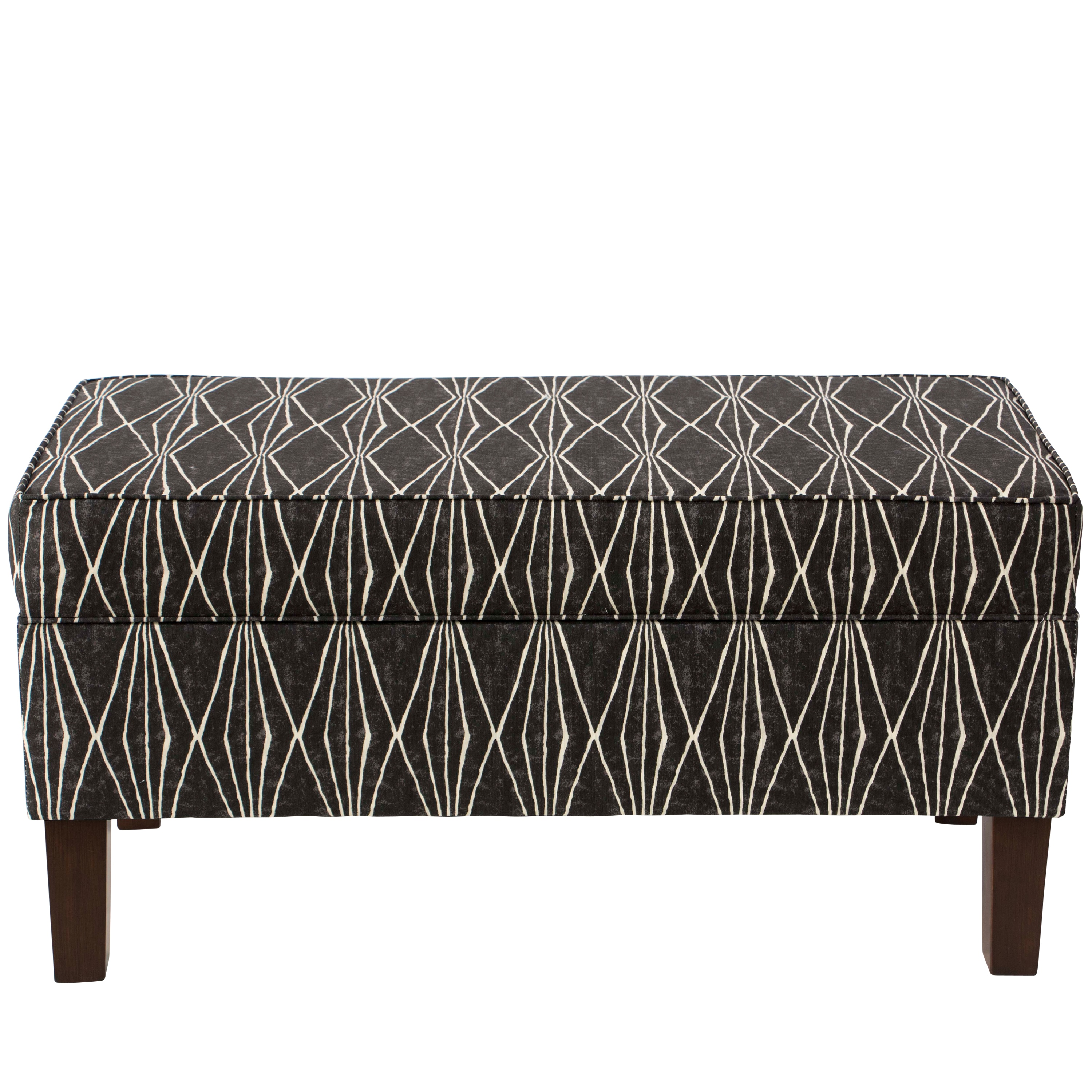 Shop Skyline Furniture Storage Bench In Hand Shapes Coal Free