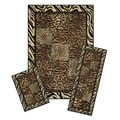 Achim Capri 3-Piece Safari Area Rug Set