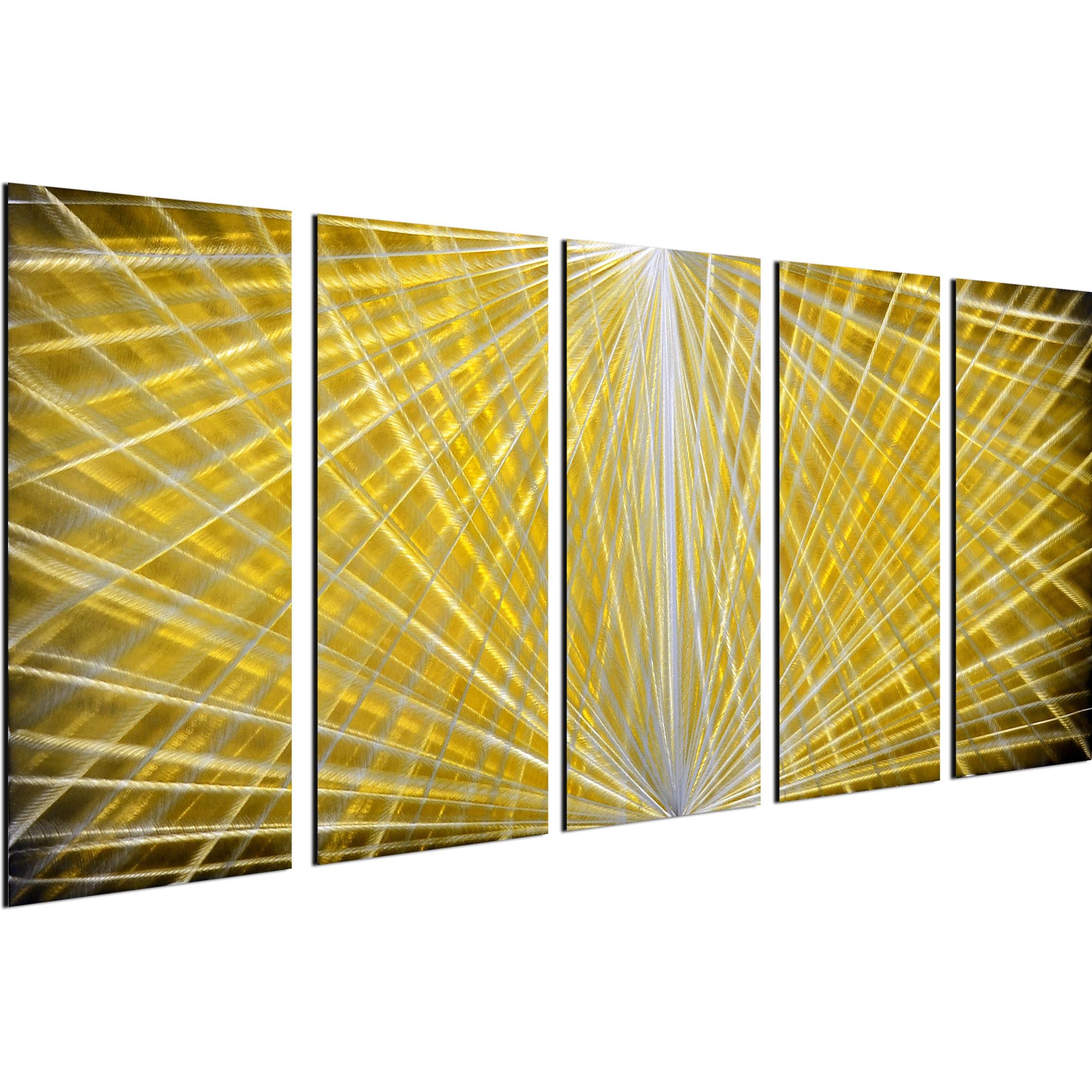 Shop Hidden depths 5 Piece Handmade Modern Metal Wall Art - Free ...
