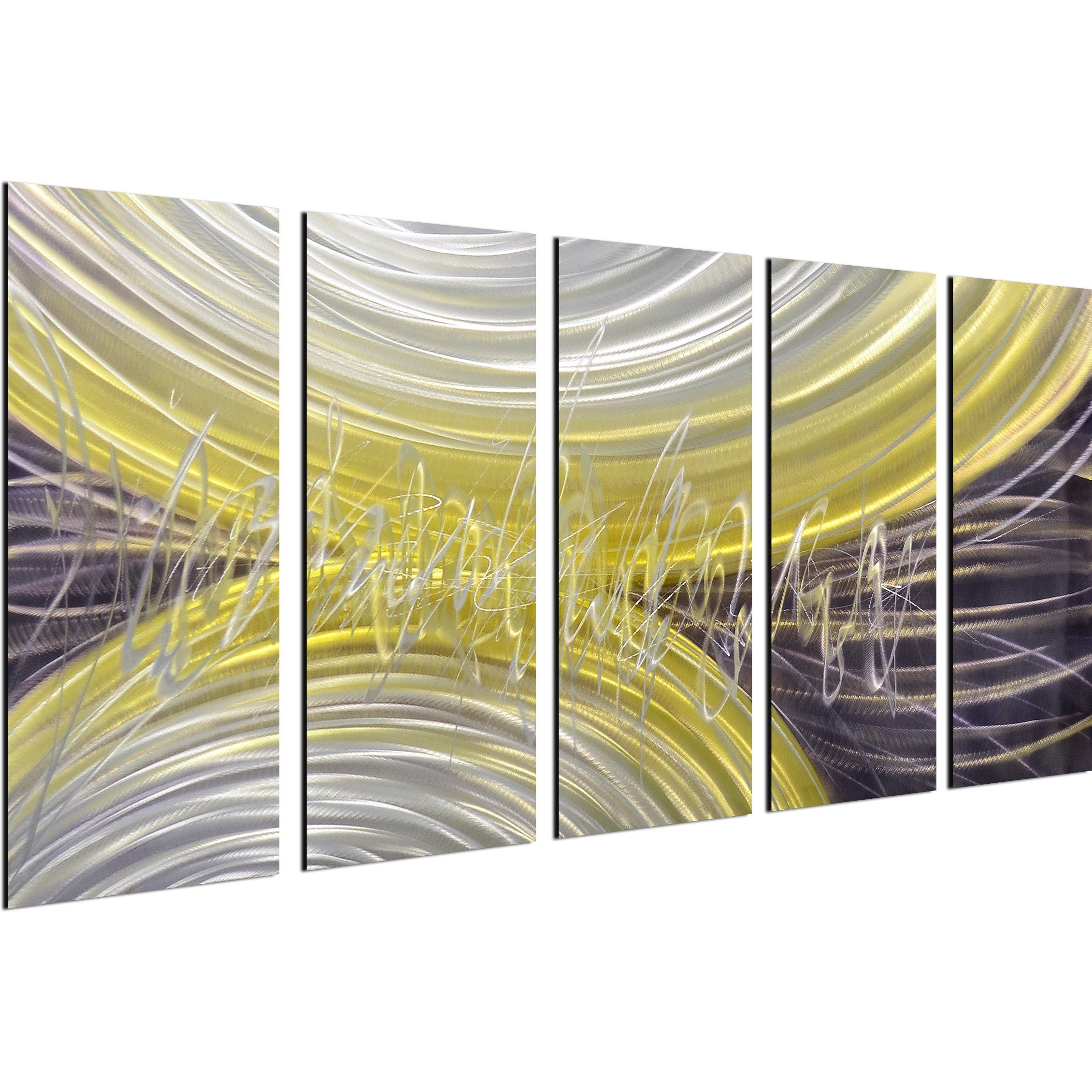 Shop Rings of magnetism 5 Piece Handmade Modern Metal Wall Art ...
