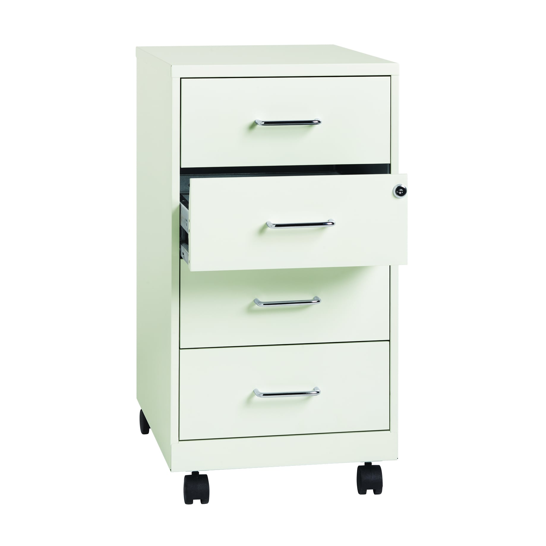 Shop Office Designs Pearl White Metal 18 Inch 4 Drawer File Cabinet   Free  Shipping Today   Overstock.com   10761133