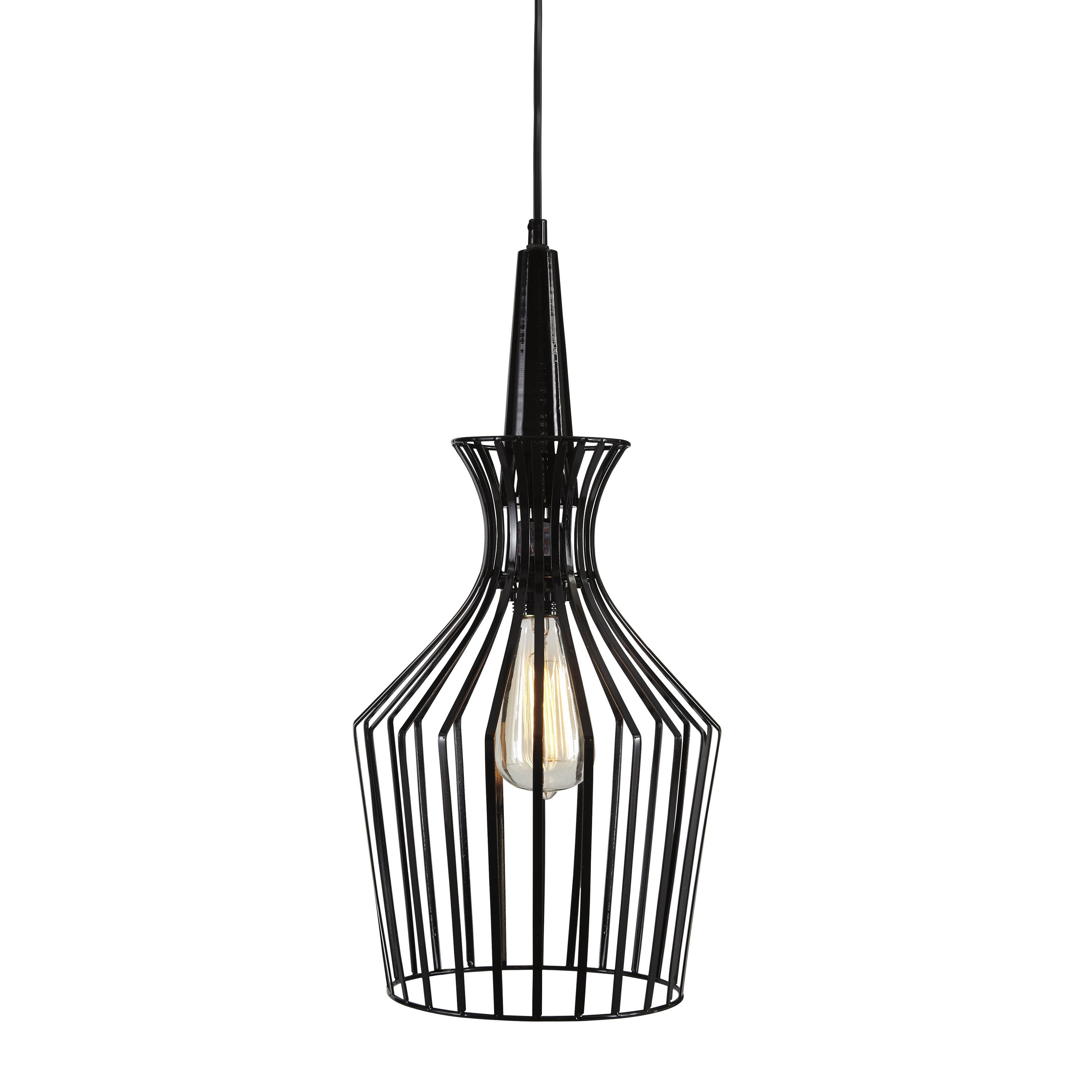 black metal pendant light. Signature Design By Ashley Ichiro Black Metal Pendant Light - Free Shipping Today Overstock 17815539