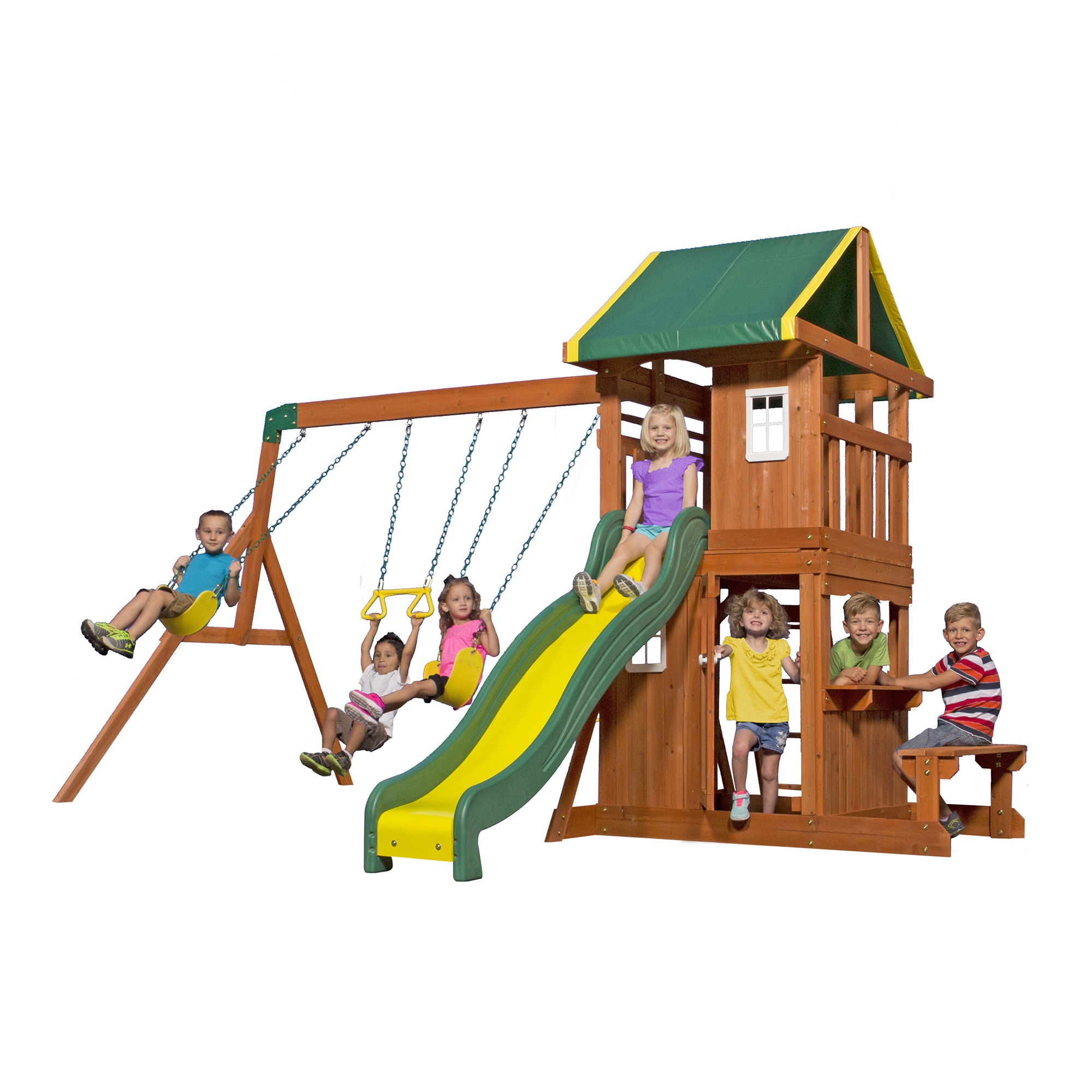 fort swing playset backyard discovery wood wooden designs set small diy and plans endeavor somerset swingset