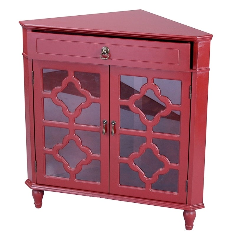 Attrayant Shop Heather Ann Heirloom Style One (1) Drawer Corner Accent Cabinet   Free  Shipping Today   Overstock.com   10763545