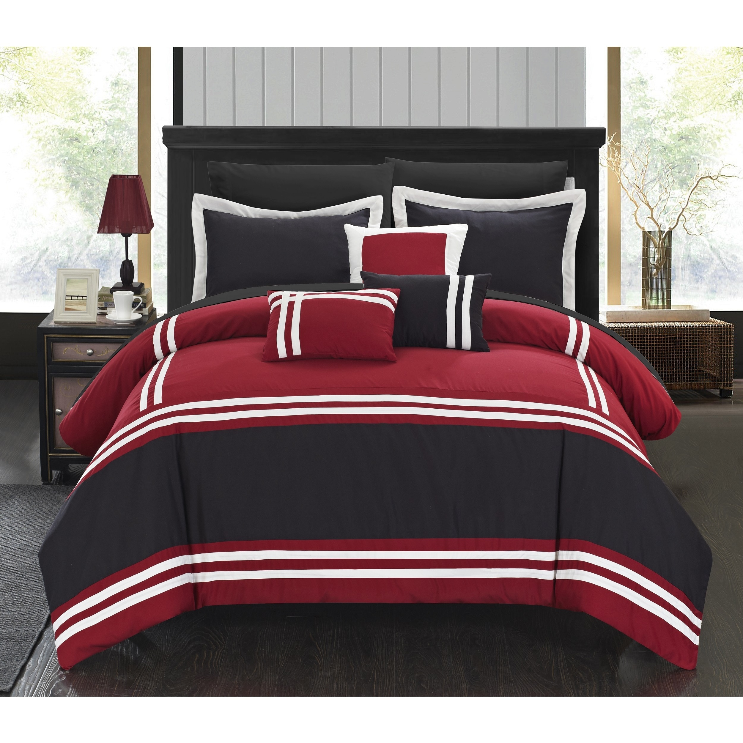Copper Grove Norreskoven Red And Black Oversized 10 Piece Bed In A Bag With Sheet Set On Free Shipping Today 20223302