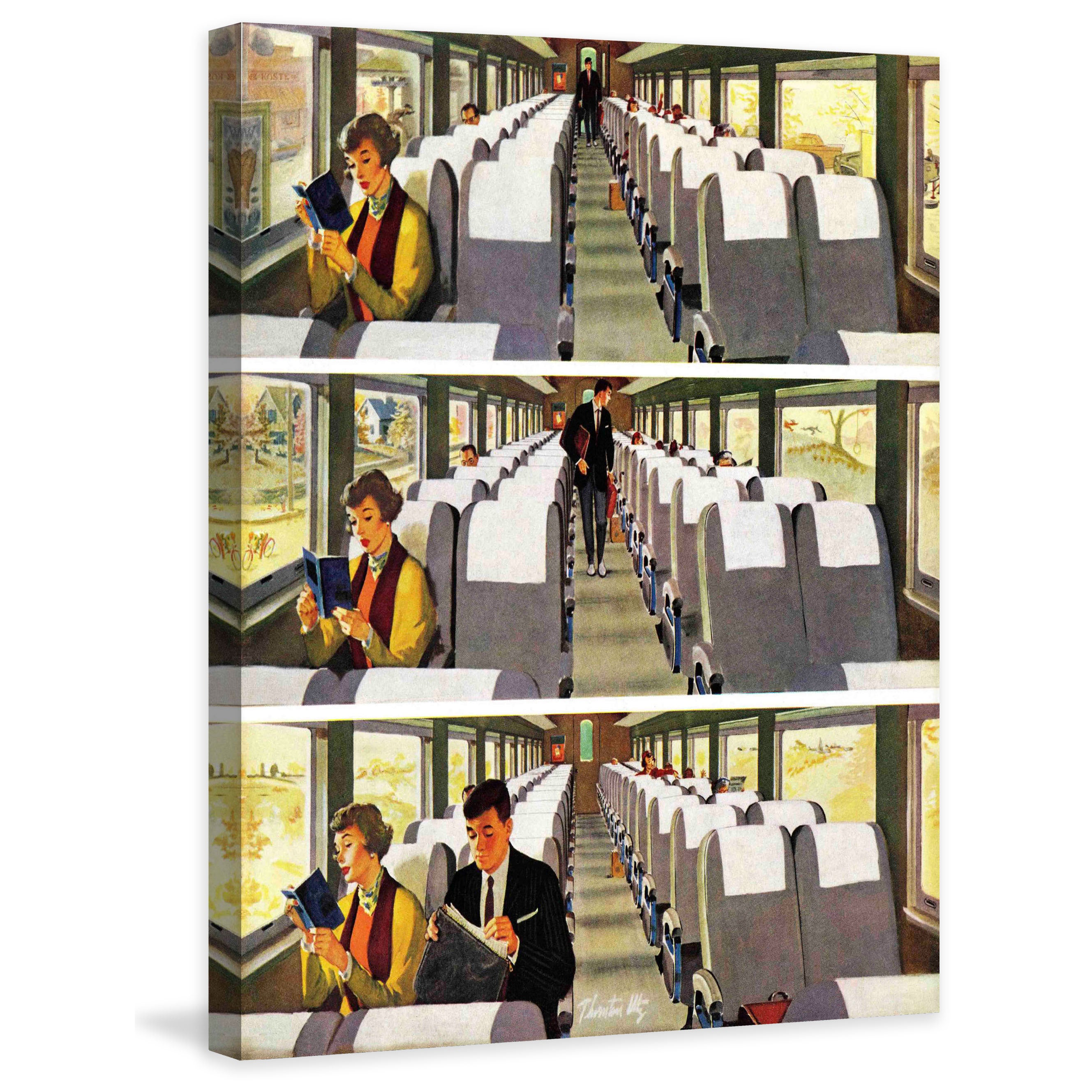 Marmont Hill - Commuter Pickup by Thornton Utz Painting Print on Canvas -  Multi-color