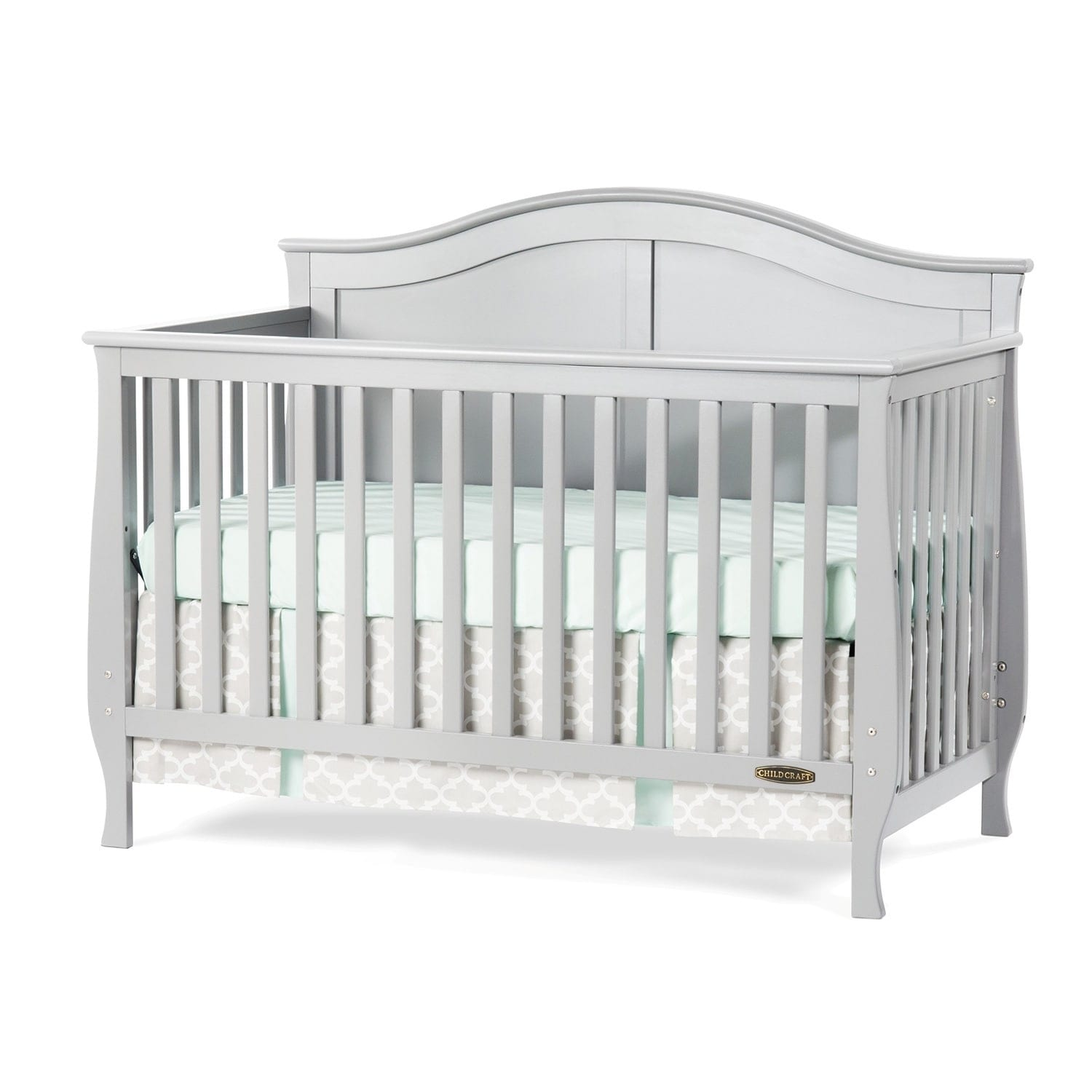 Shop child craft camden 4 in 1 lifetime convertible crib cool gray free shipping today overstock com 10769366