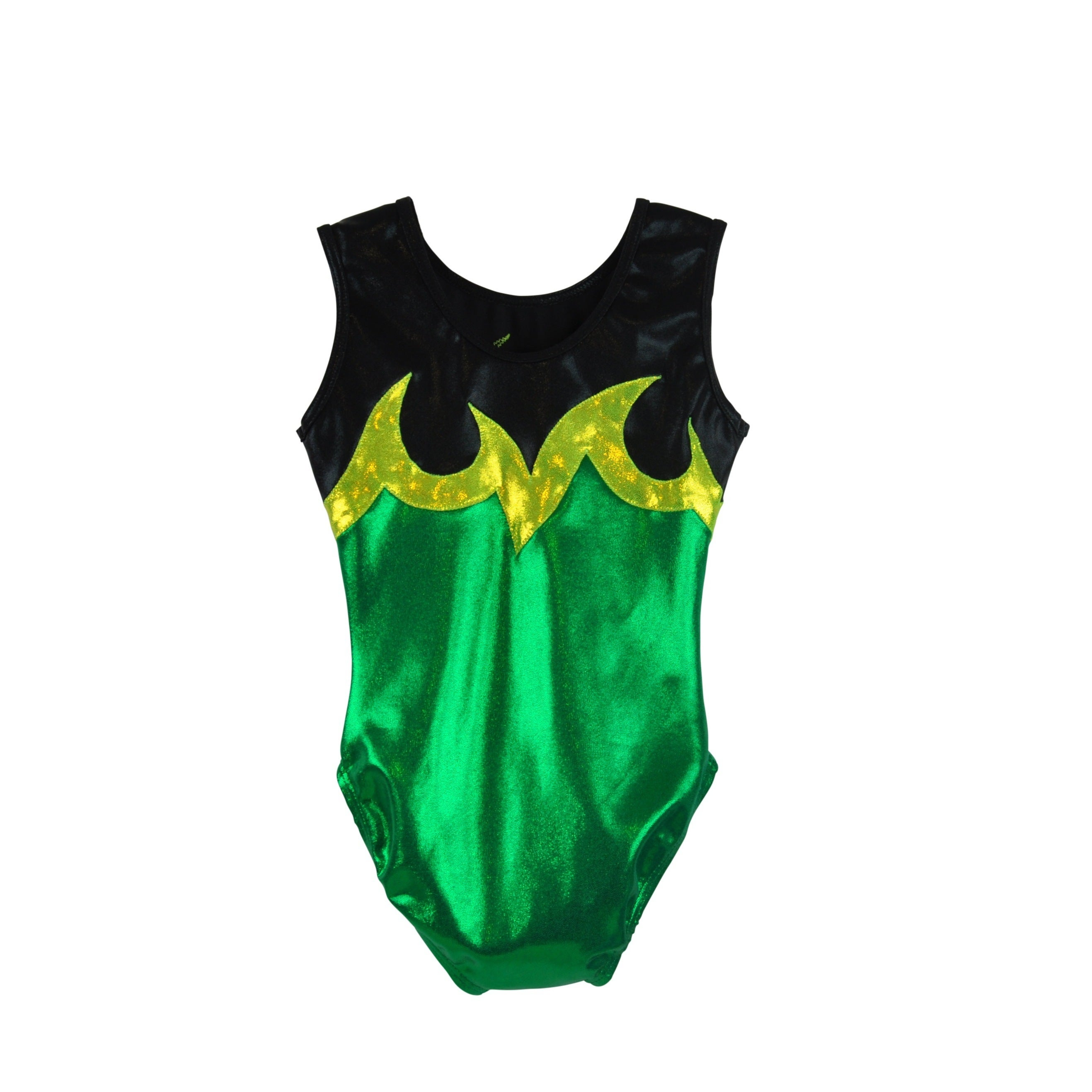 05f9297a6bae Shop Obersee Girl s Girls Gymnastics Leotard - Ace Green - On Sale ...