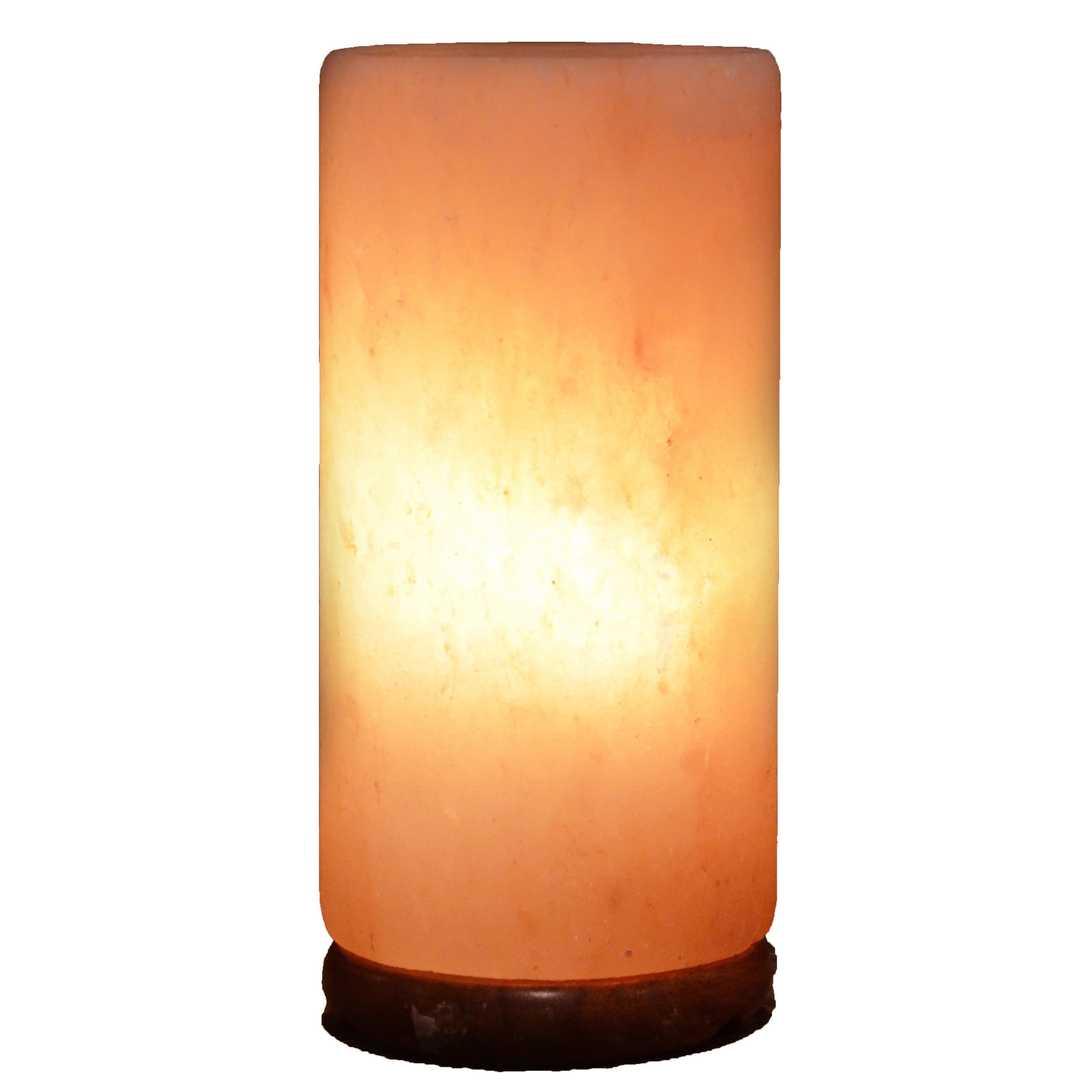 Cylinder Natural Salt Lamp With Wood Base On Free Shipping Today 10772745