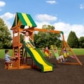 Backyard Discovery Weston All Cedar Swing Set Play Set