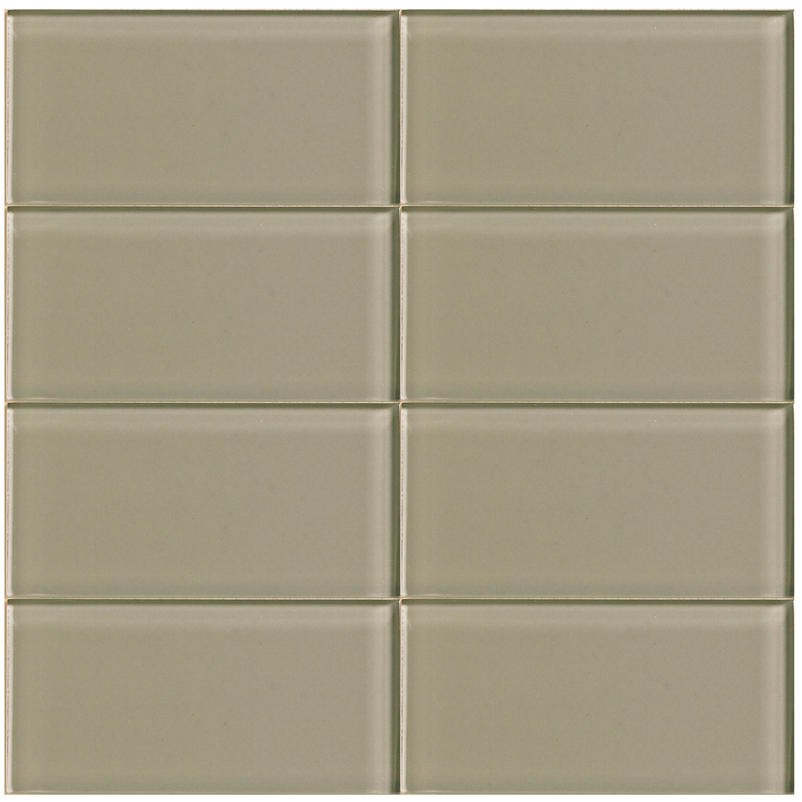 Shop Driftwood Beige 3 X 6 Inch Glass Tile Free Shipping Today