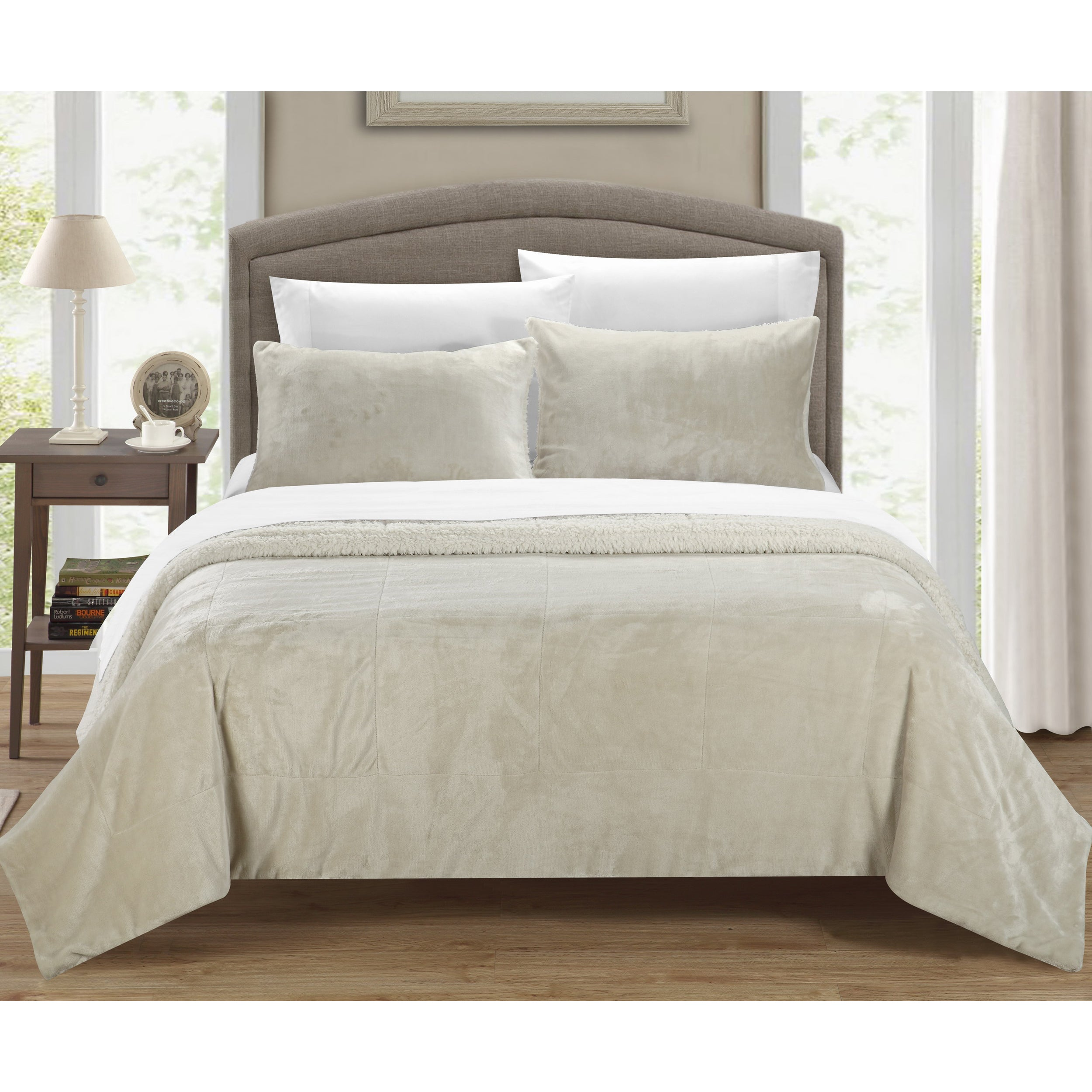 madison meyers free micro bath comforter bedding today product shipping grey overstock park solid set pattern piece casual suede
