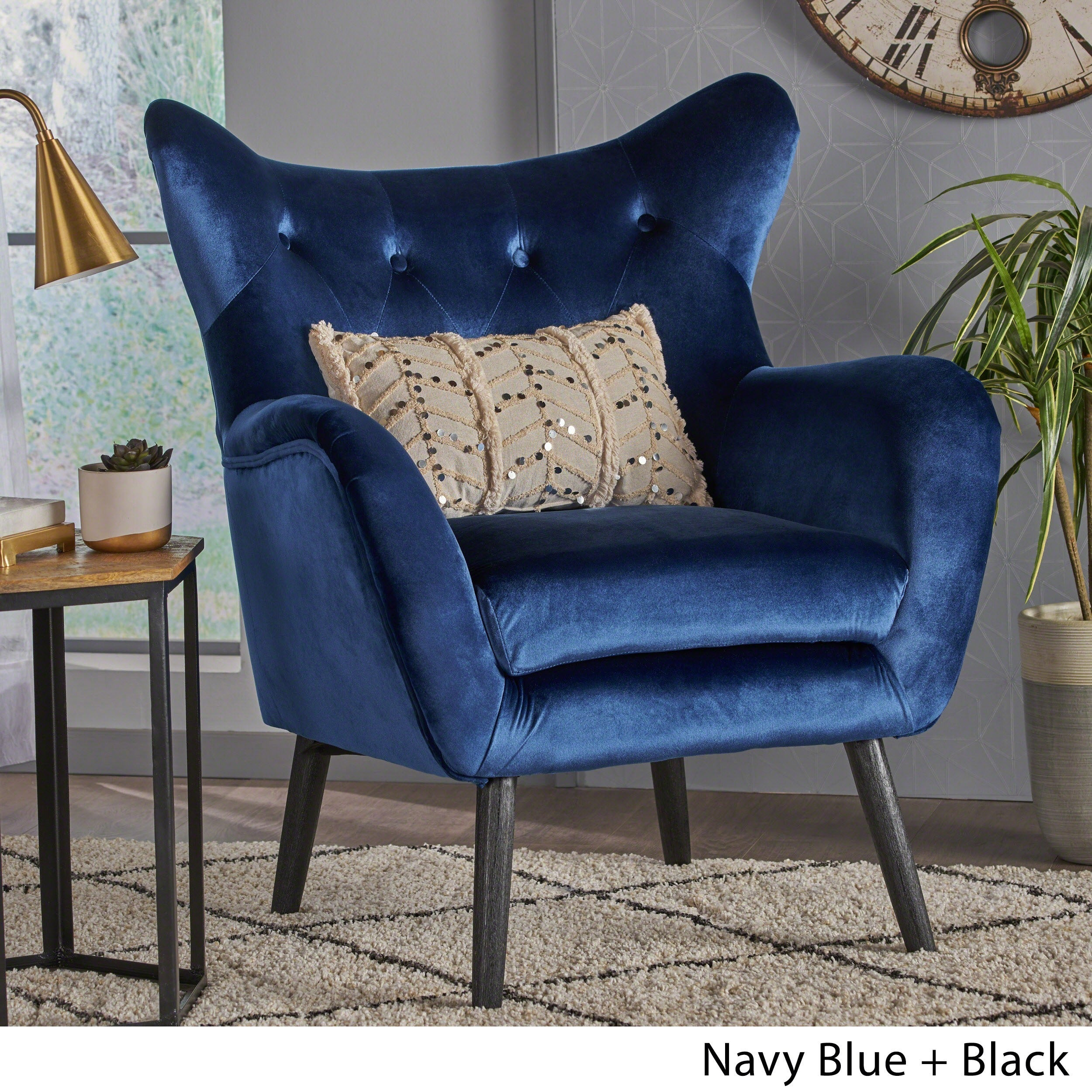 Shop Christopher Knight Home Alyssa Velvet Arm Chair   On Sale   Free  Shipping Today   Overstock   10773790