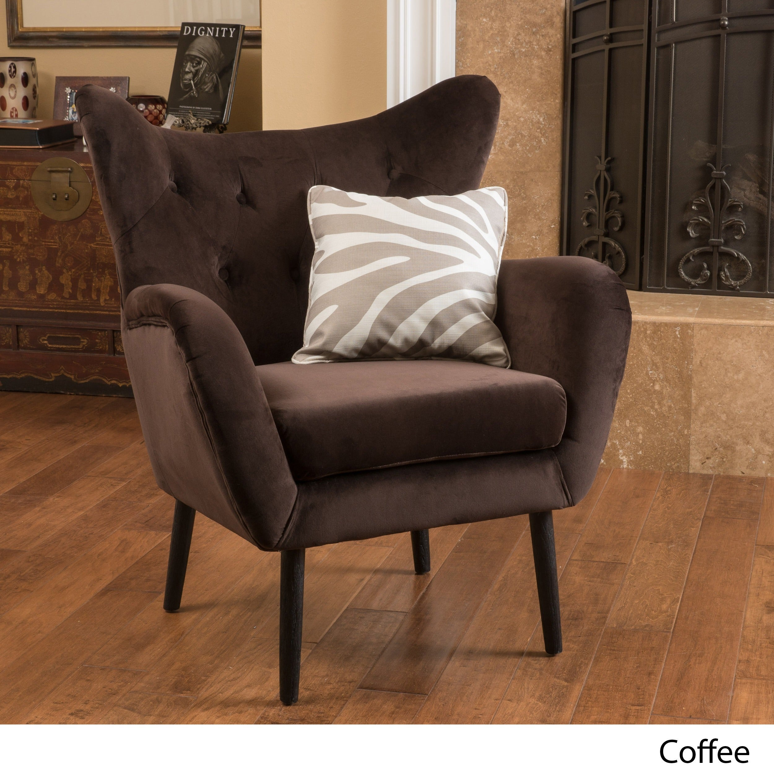 Alyssa Velvet Arm Mid Century Style Chair By Christopher Knight Home   Free  Shipping Today   Overstock   17824152
