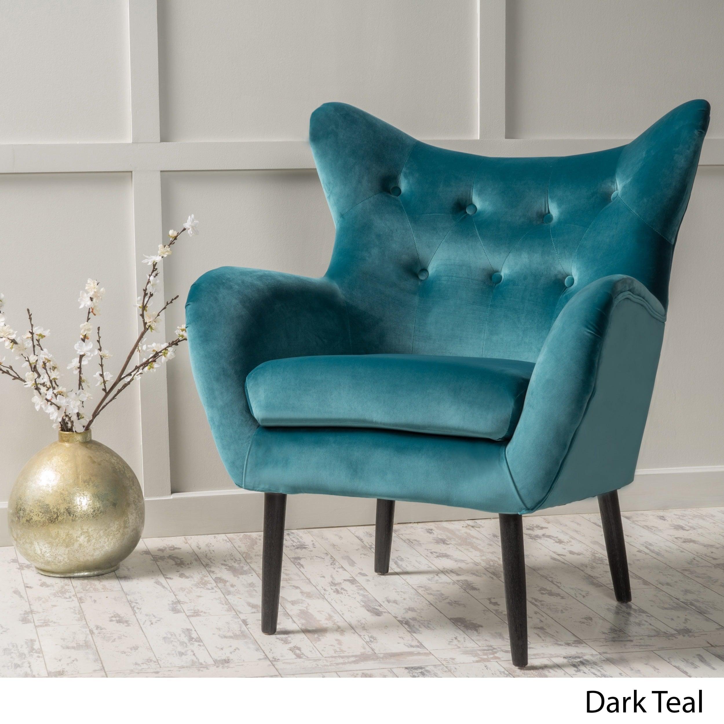 Wonderful Alyssa Velvet Arm Mid-century Style Chair by Christopher Knight  WX25
