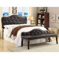 Furniture of America Little Missy 2-piece Black Tufted Headboard and Bench Set
