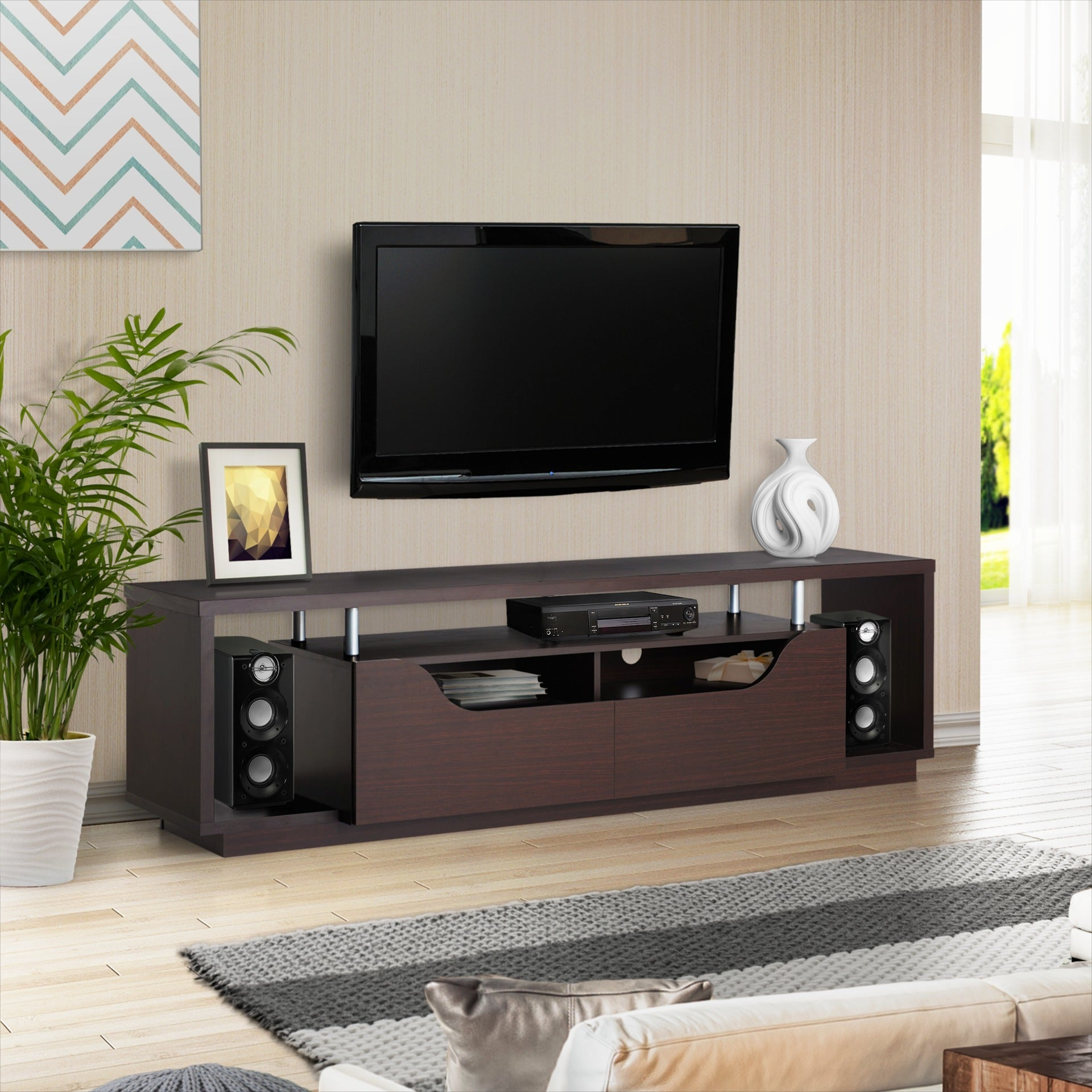Incroyable Shop Furniture Of America Arkyne Modern Espresso 70 Inch TV Stand   On Sale    Free Shipping Today   Overstock.com   10774321
