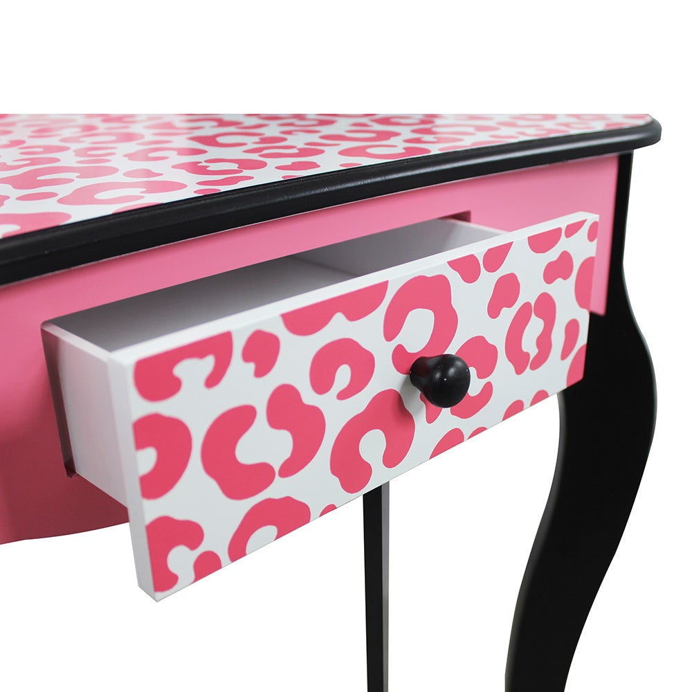 Shop Teamson Kids - Leopard Vanity Table   Stool Set - Free Shipping Today  - Overstock - 10774505 7e835128b