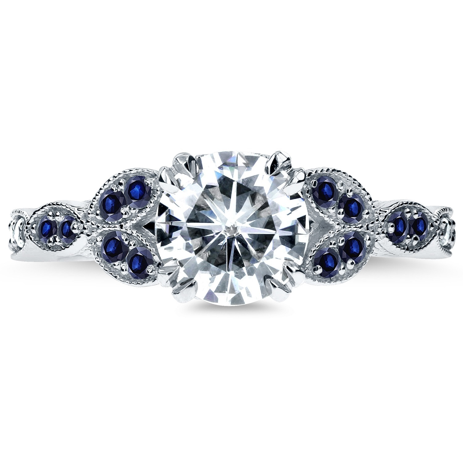 product tgw sapphire blue shipping today kobelli free white accented vintage overstock floral by engagement annello and moissanite jewelry gold watches diamond ring