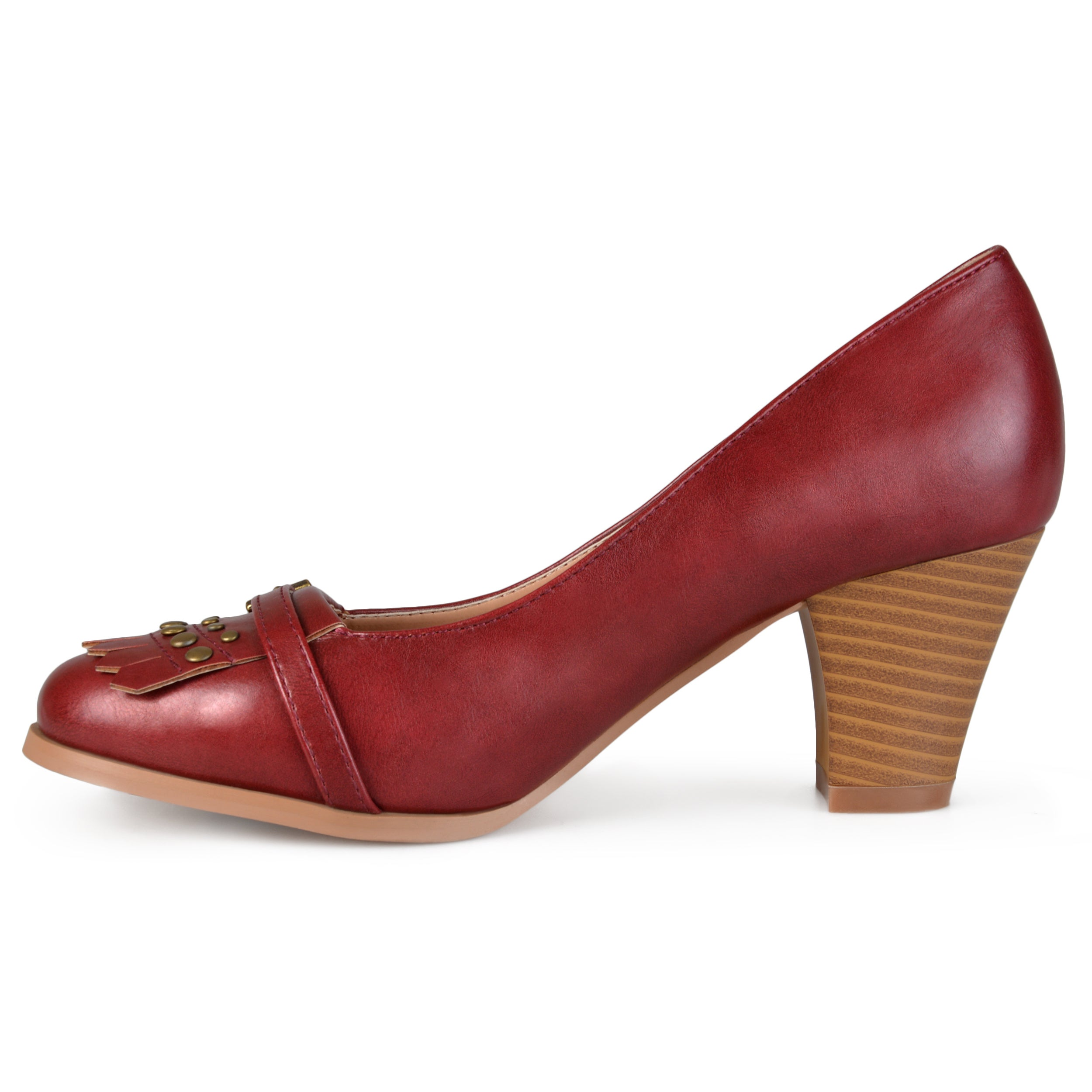 85bddb71a53 Shop Journee Collection Women s  Nora  Stacked Heel Loafer Pumps - Free  Shipping Today - Overstock - 10789838