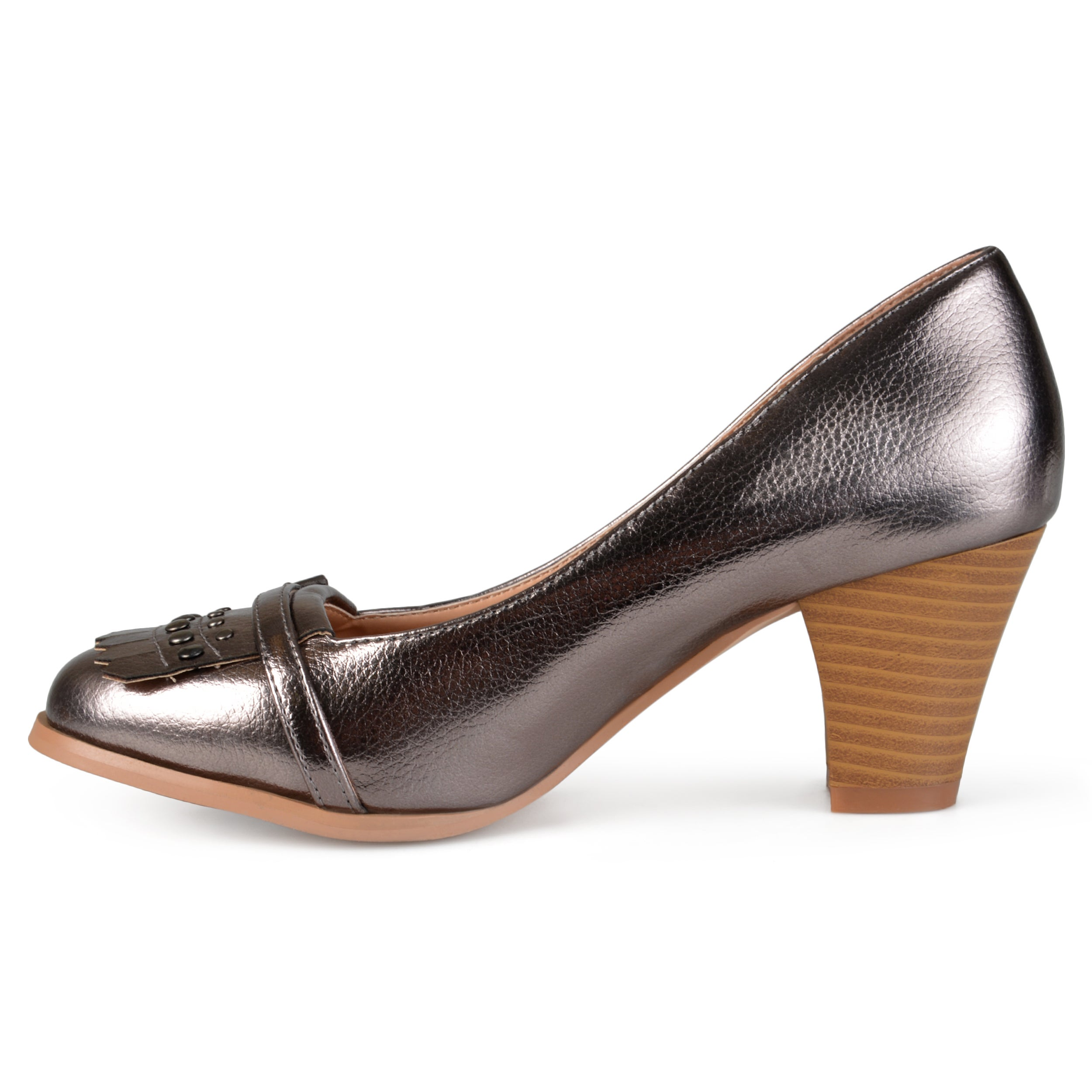 d96c7c42d7d Shop Journee Collection Women s  Nora  Stacked Heel Loafer Pumps - Ships To  Canada - Overstock - 10789838