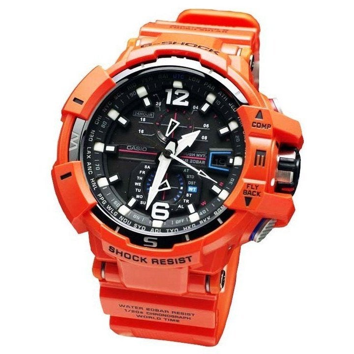 fc77f4507498 Shop G-Shock Gravitymaster Orange Watch GWA1100R-4A - Ships To Canada -  Overstock - 10789967