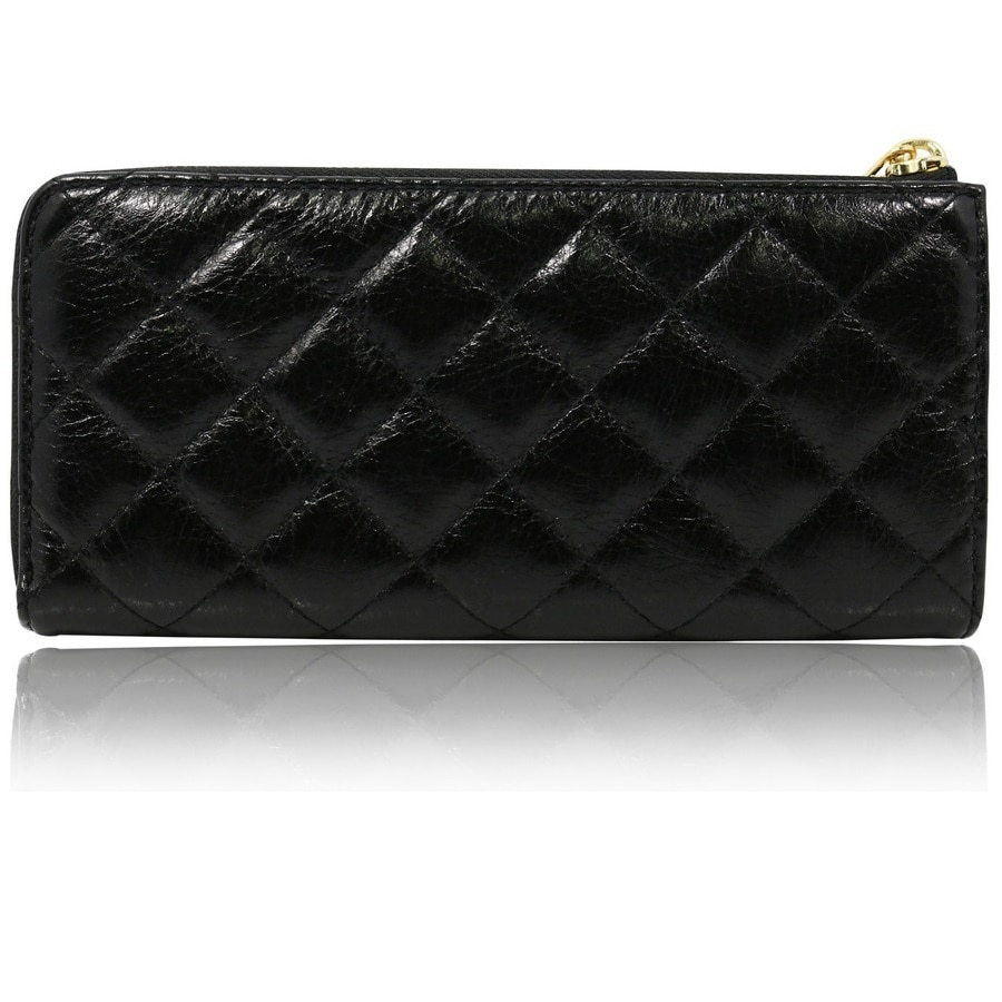 917a5c125302 Shop Michael Kors Susannah Black Quilted Continental Wallet - Free Shipping  Today - Overstock - 10790206