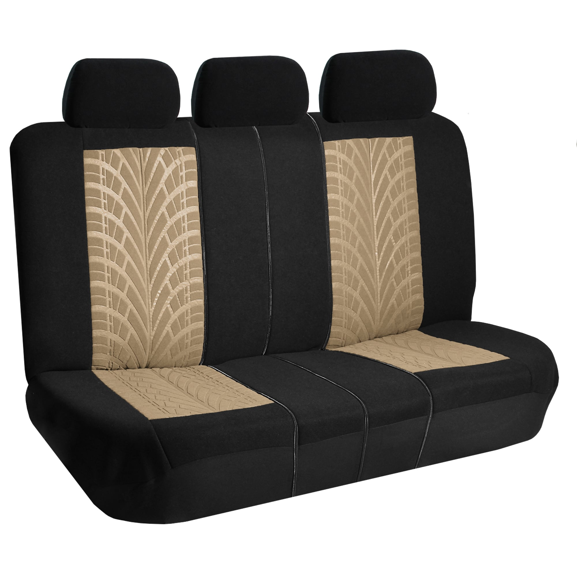 FH Group Beige And Black Travel Master Car Seat Covers