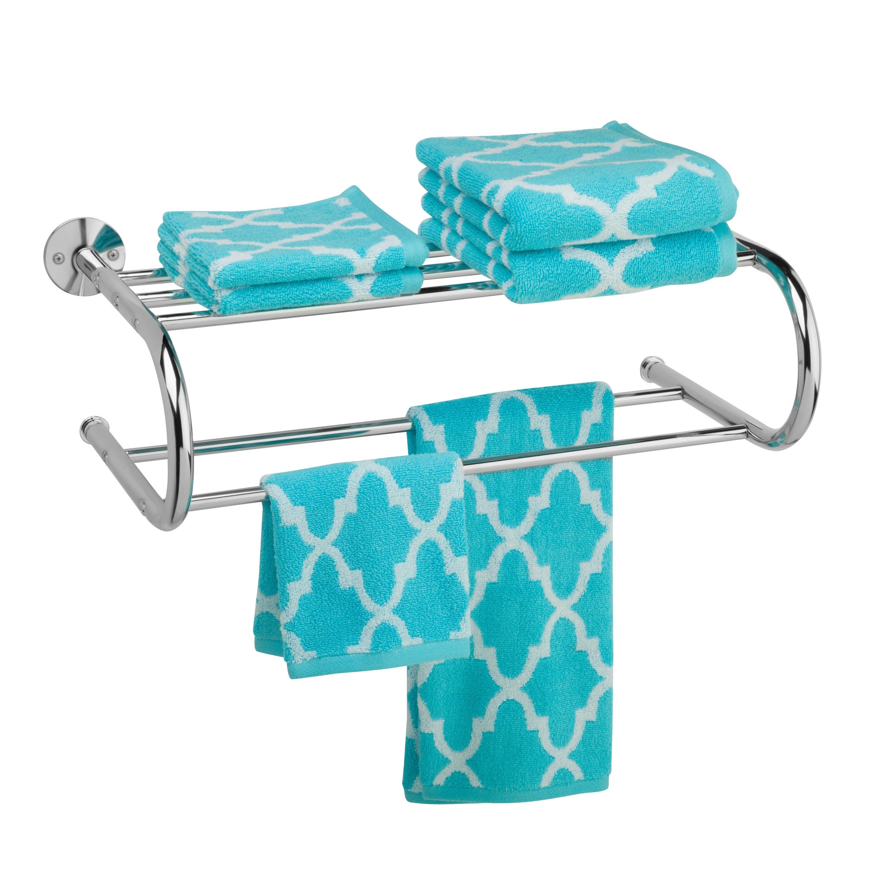Shop Honey-Can-Do Chrome Wall Mount Towel Rack - Free Shipping On ...