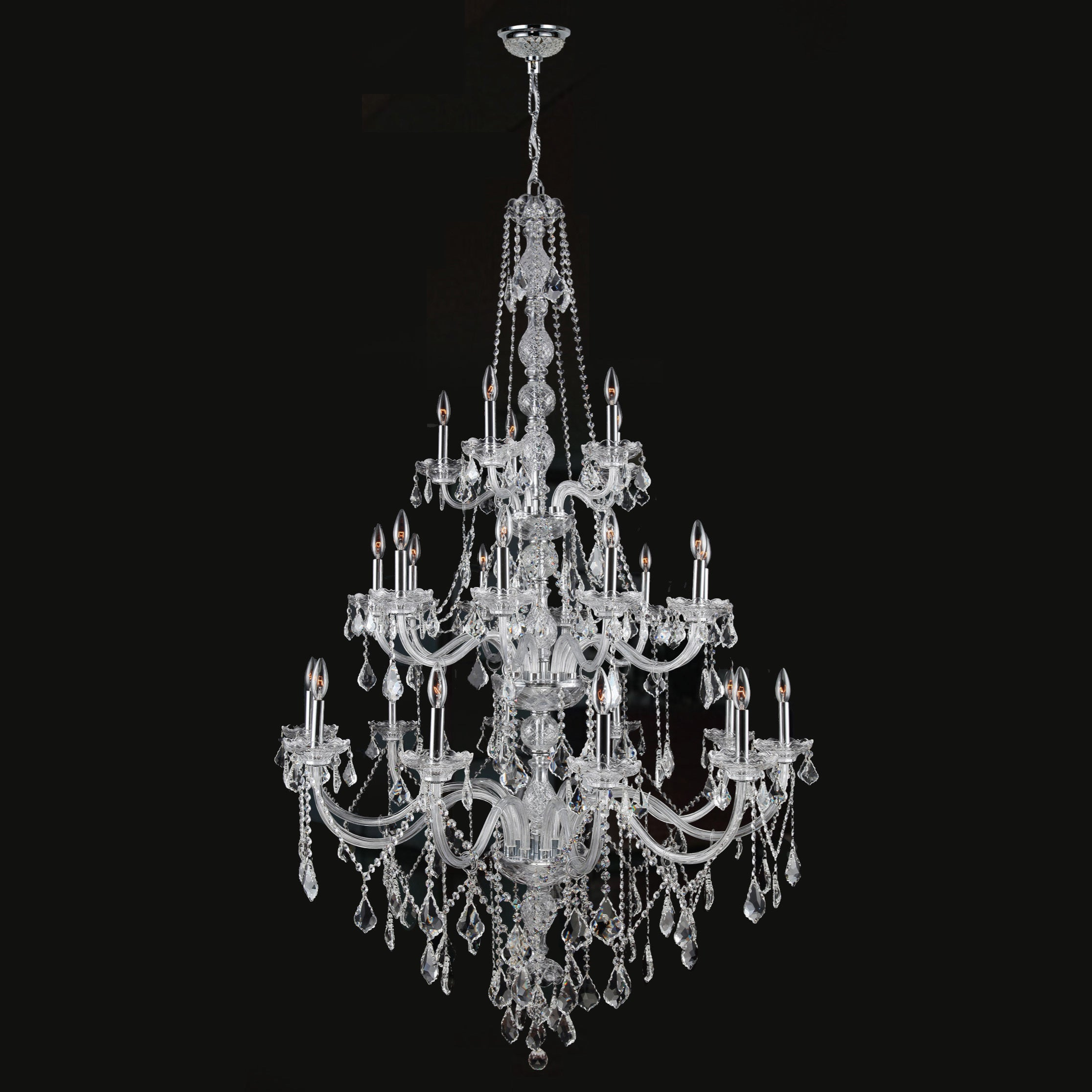 Venetian italian style 25 light chrome finish and clear crystal 3 venetian italian style 25 light chrome finish and clear crystal 3 tier extra large chandelier free shipping today overstock 17838775 arubaitofo Choice Image