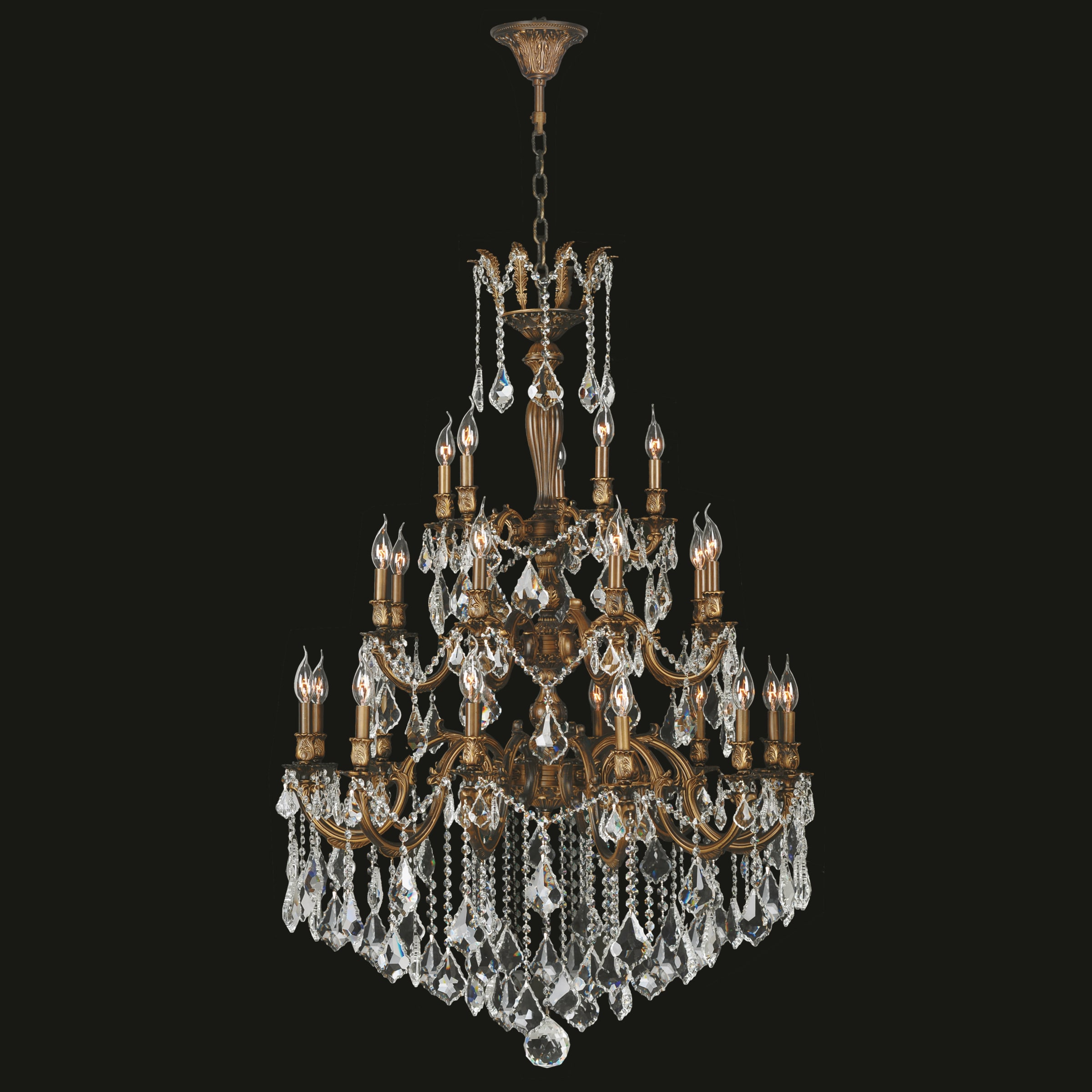 French imperial collection 25 light french gold and clear crystal french imperial collection 25 light french gold and clear crystal traditional chandelier large three 3 tier 36 x 50 free shipping today overstock arubaitofo Choice Image
