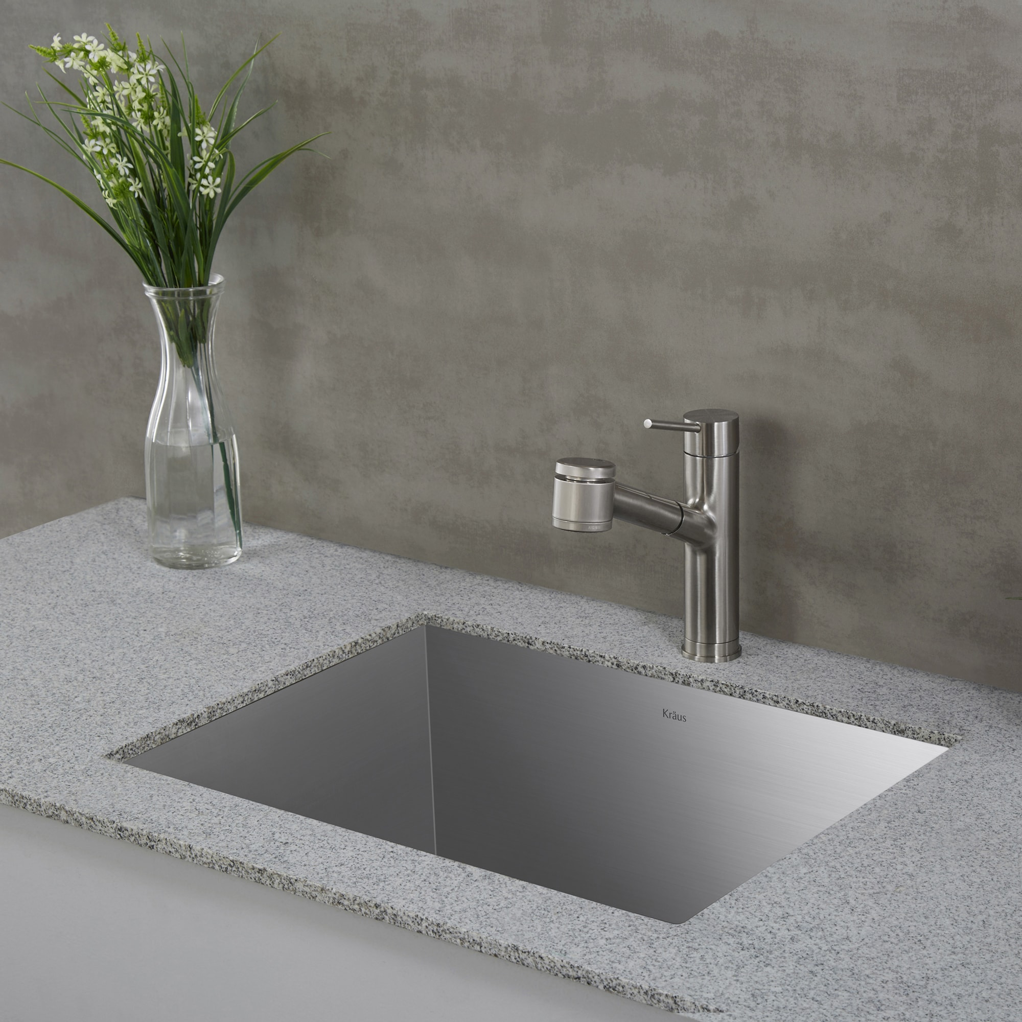 Exceptionnel Shop Kraus KHU24L Pax Zero Radius Undermount 24 Inch 18 Gauge Single Bowl  Satin Stainless Steel Laundry Utility Sink   Free Shipping Today    Overstock.com   ...