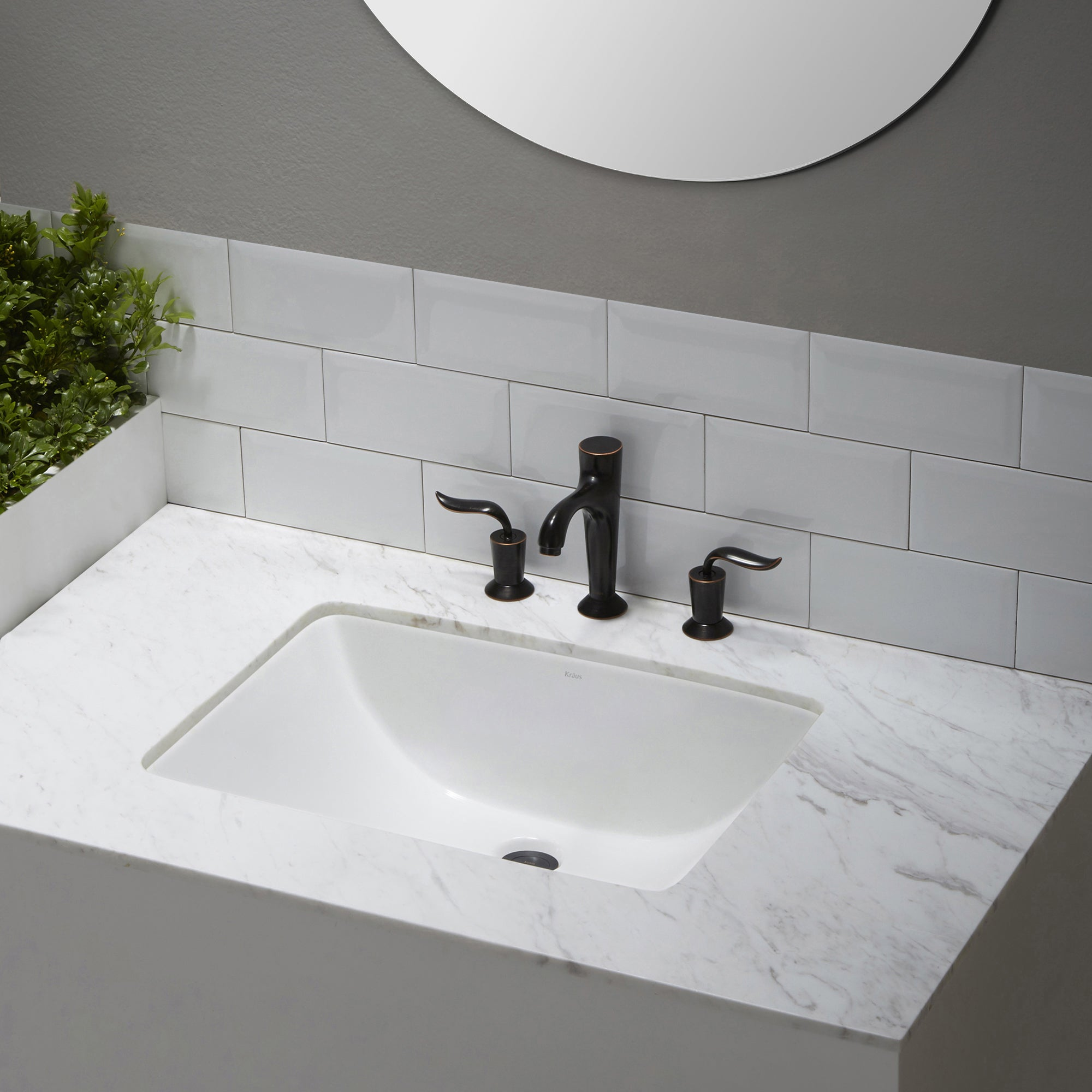 Shop KRAUS Elavo Large Rectangular Ceramic Undermount Bathroom Sink In  White With Overflow   Free Shipping Today   Overstock.com   10791866