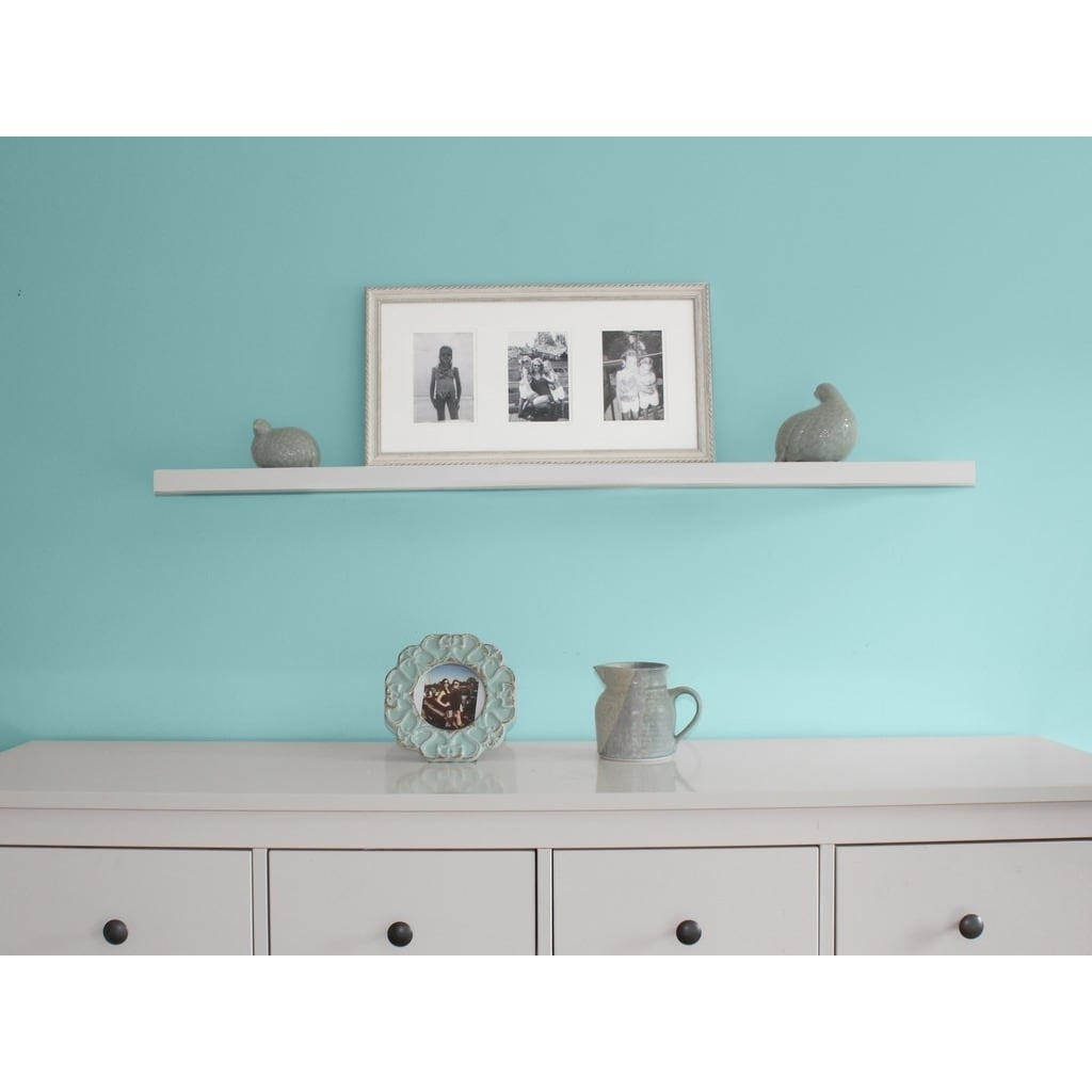 Inplace 48 Inch White Wall Mounted Floating Shelf Free Shipping On Orders Over 45 10791993