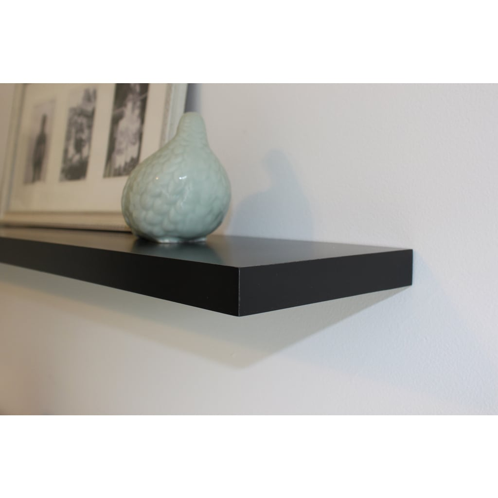 shop lewis hyman wall mounted 60 inch black floating shelf free rh overstock com floating shelves 60 inches white floating shelf 60 inches