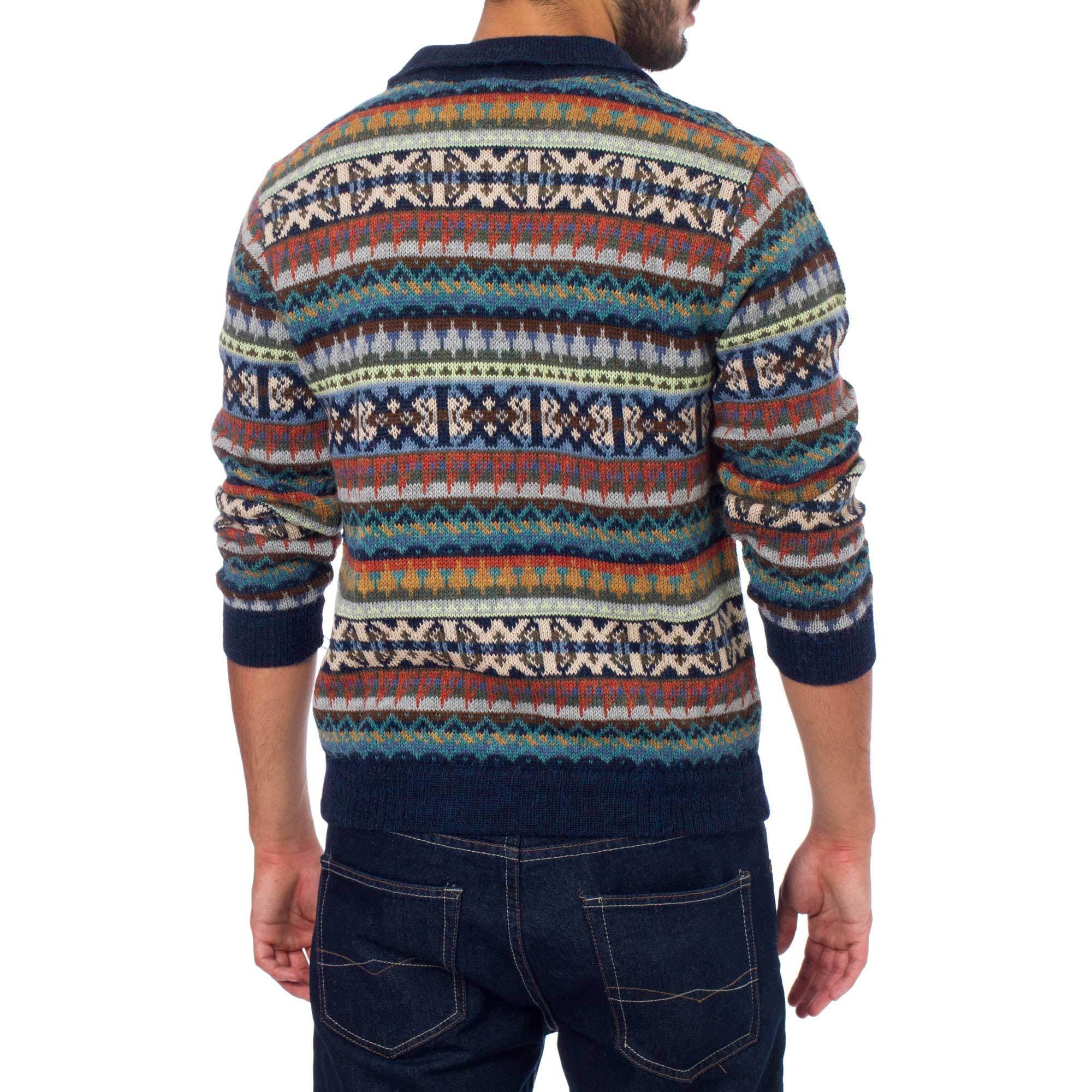 bb6848a6c5f Shop Handmade Men s Alpaca  Pisac Casual  Polo Sweater (Peru) - On Sale -  Free Shipping Today - Overstock - 10792101