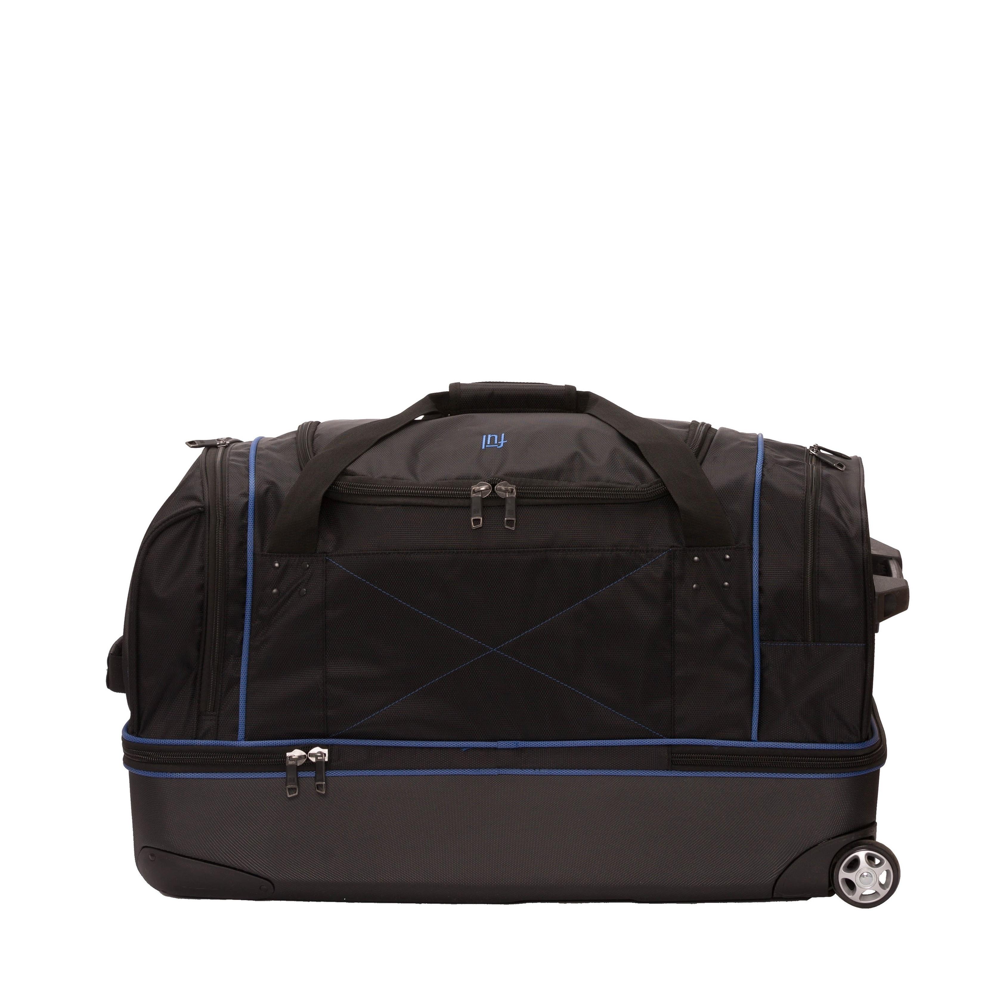 a7ccc6f86057 Shop Ful Workhorse Black  Blue 30-inch Rolling Duffel Bag - Free ...