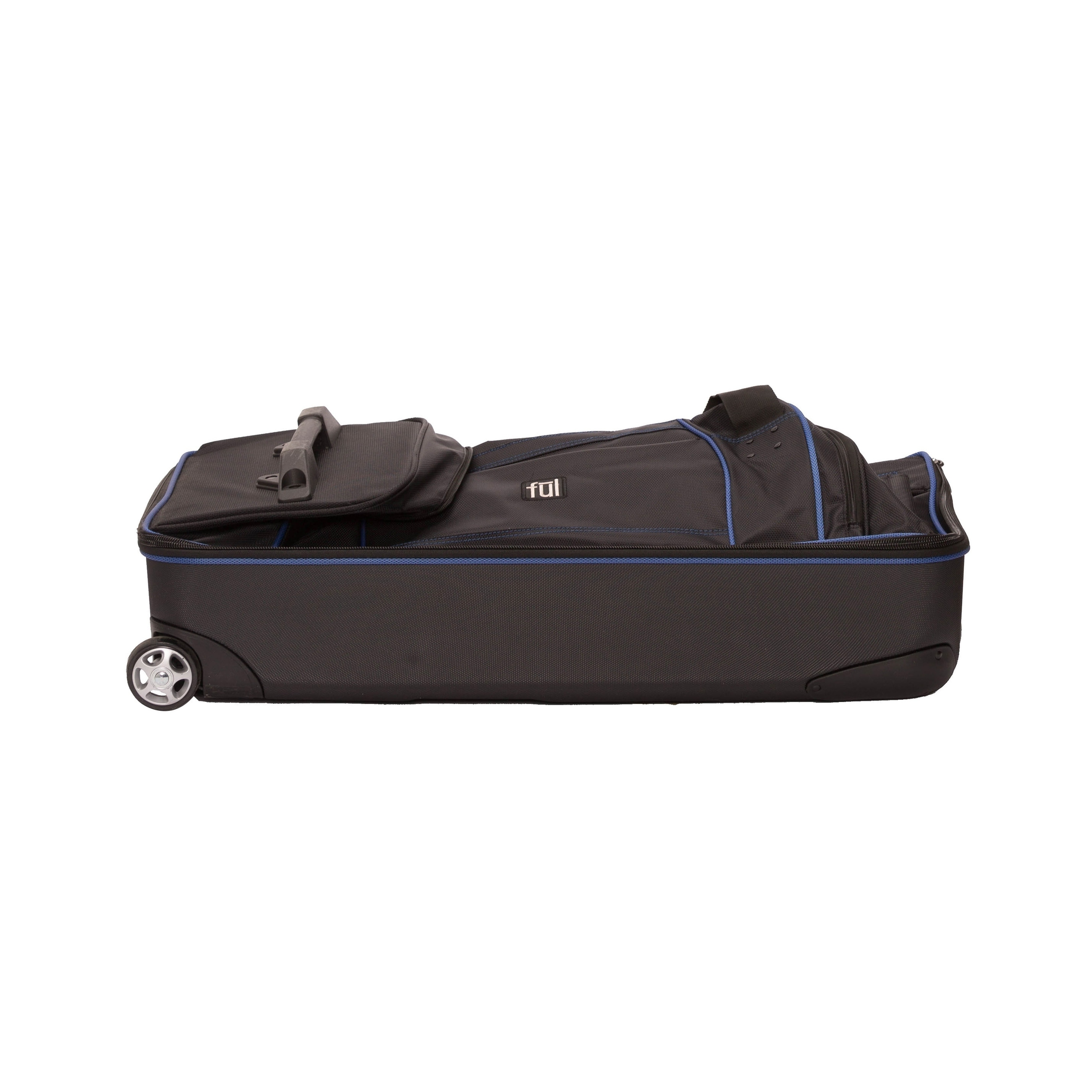 8df22407d1 Shop Ful Workhorse Black  Blue 30-inch Rolling Duffel Bag - Free Shipping  Today - Overstock - 10792655