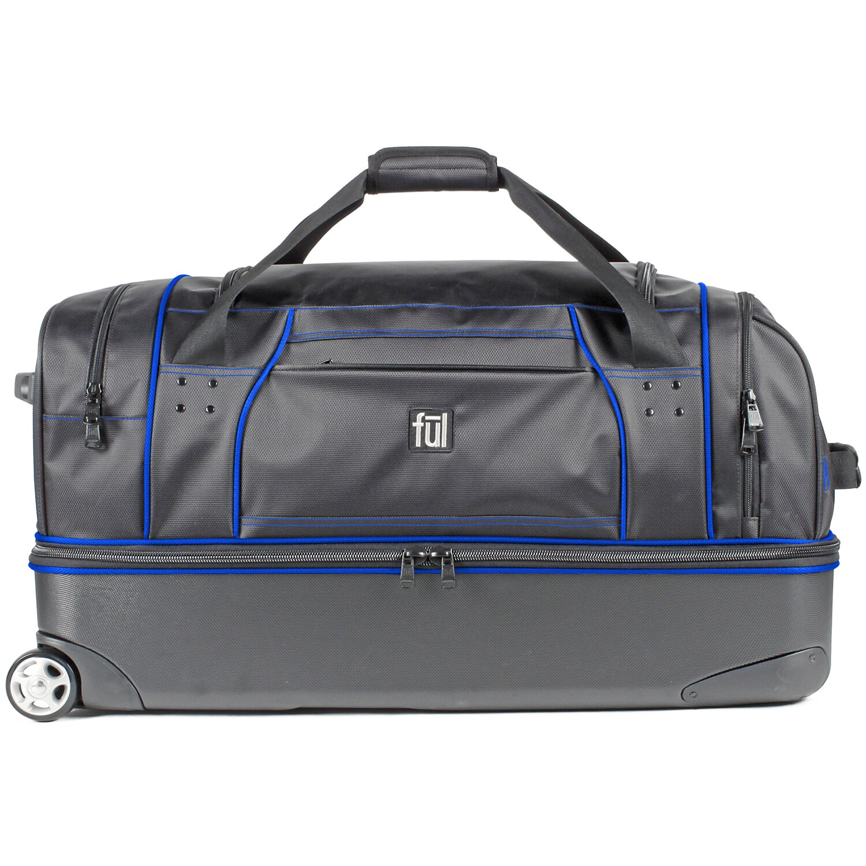 b1024cf0b48e Shop Ful Workhorse Black  Blue 30-inch Rolling Duffel Bag - Free Shipping  Today - Overstock - 10792655