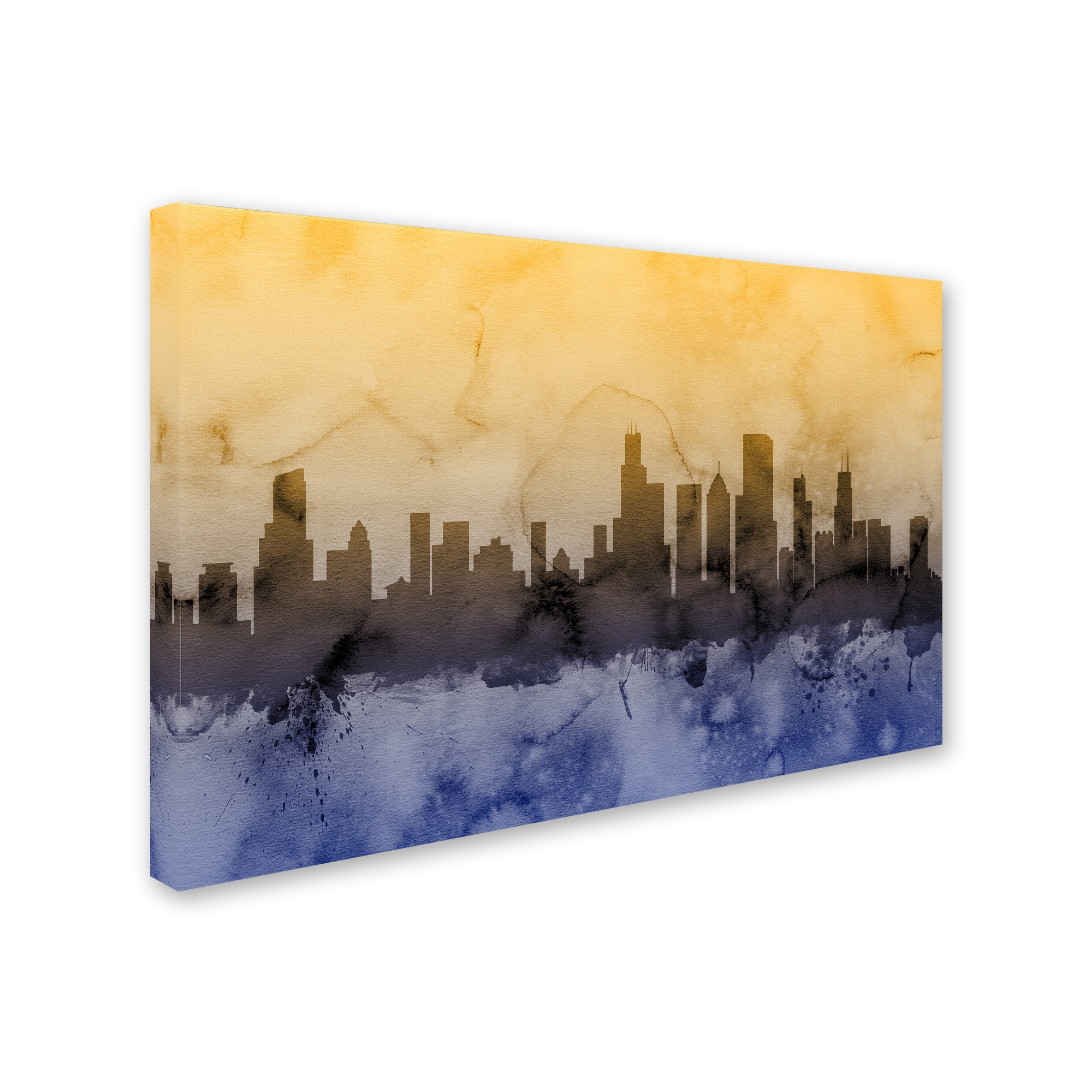 Great Chicago Skyline Canvas Wall Art Images - The Wall Art ...