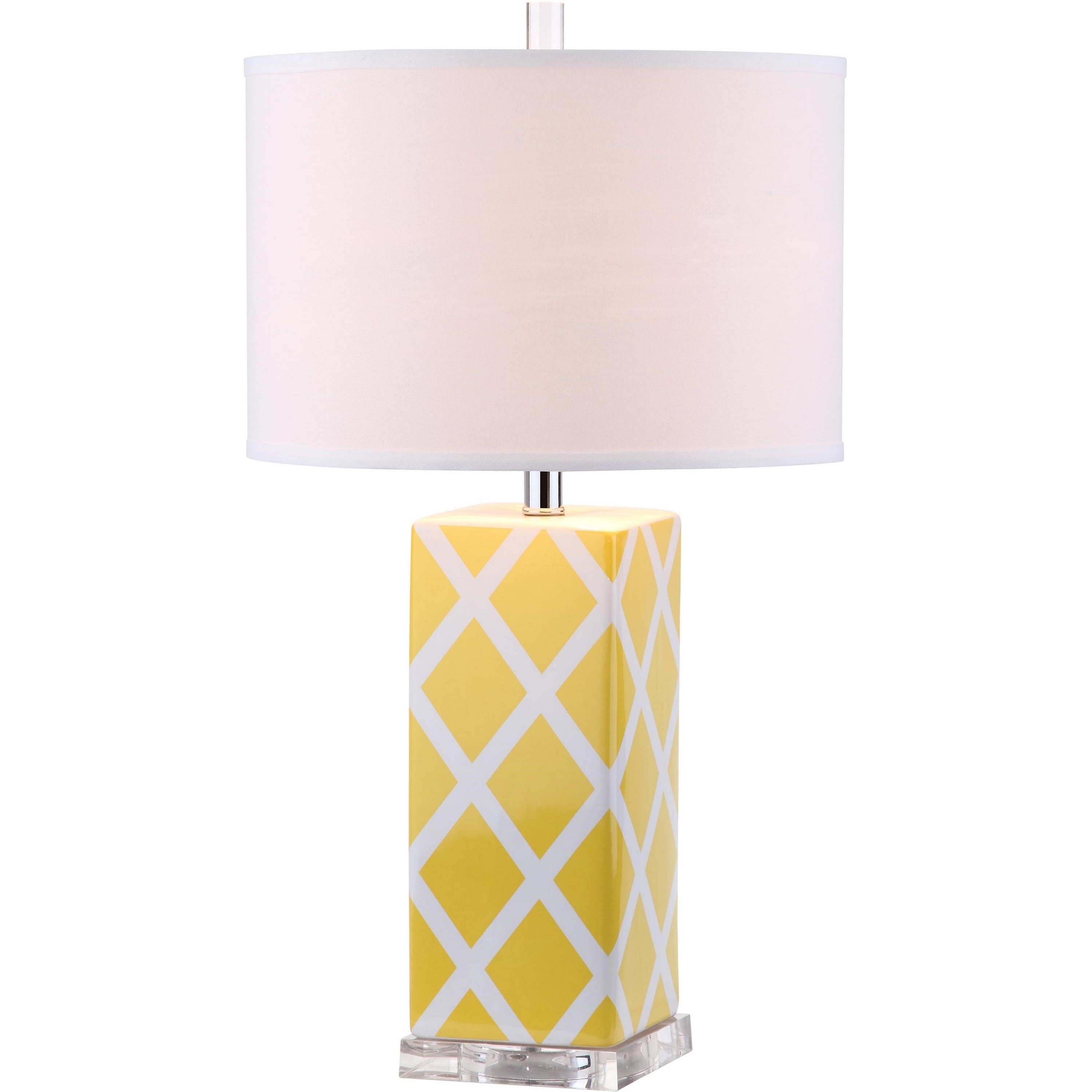 Shop Safavieh Lighting 27 Inch Garden Lattice Yellow Table Lamp On