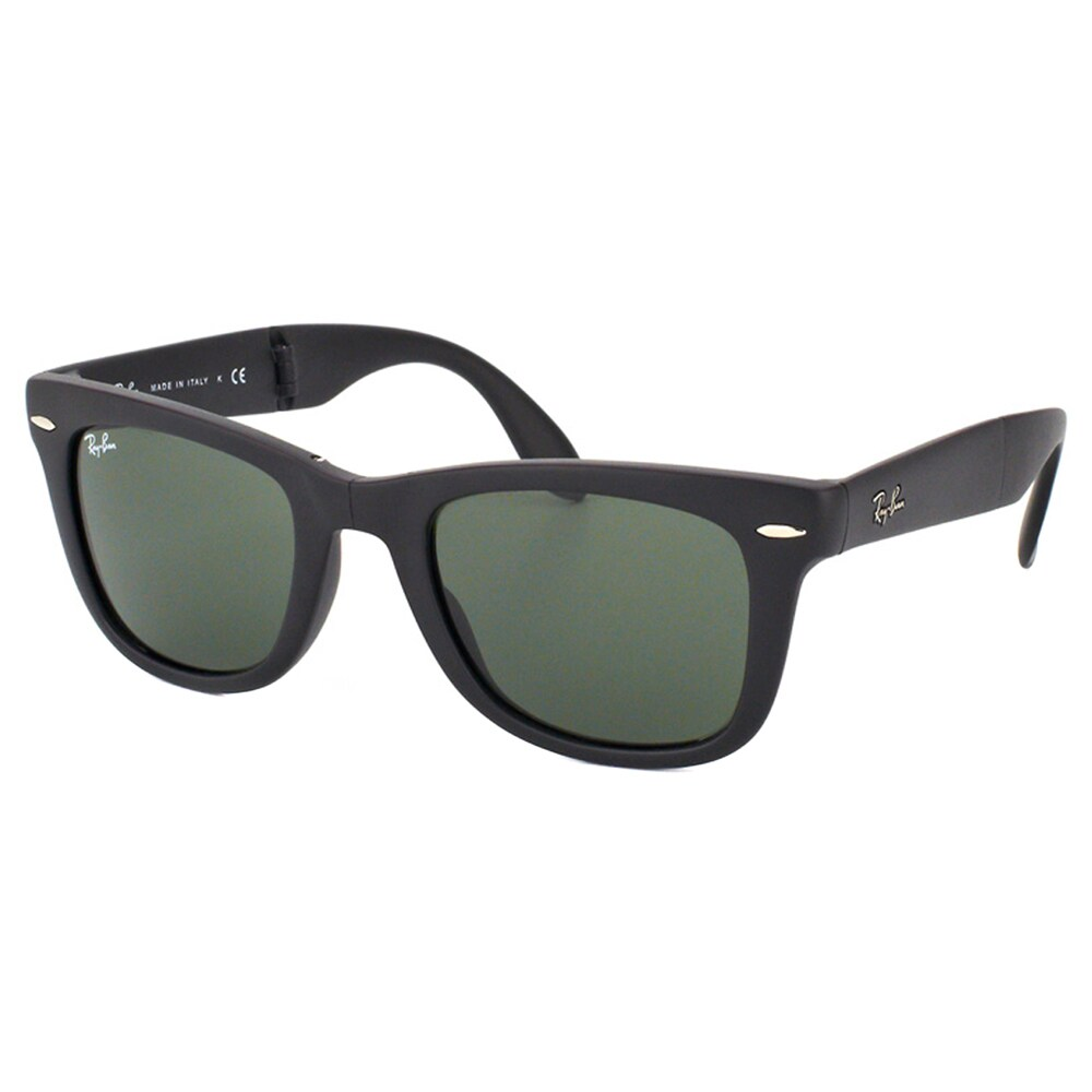03bfe6fde5 Ray Ban Unisex RB4105 Folding Wayfarer 601S Matte Black Plastic Sunglasses