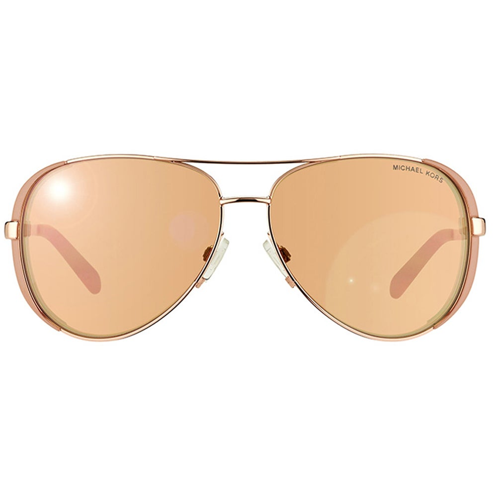 508b7cb5620 Shop Michael Kors Womens Chelsea MK 5004 1017R1 Rose Gold And Toupe Metal Aviator  Sunglasses - Free Shipping Today - Overstock - 10809697