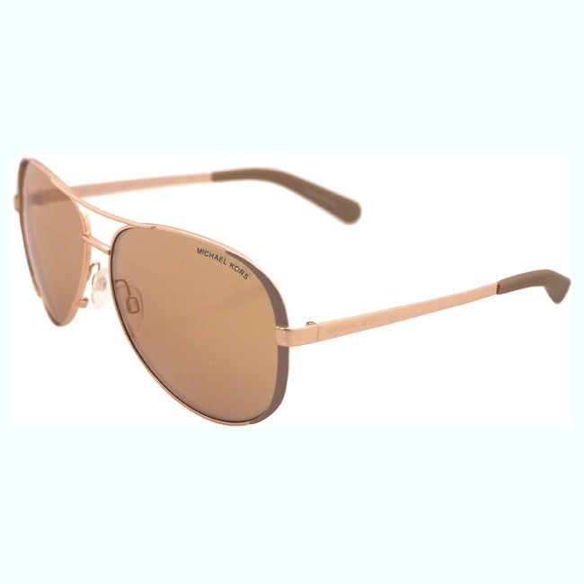 34f2fd48874 ... ireland shop michael kors womens chelsea mk 5004 1017r1 rose gold and  toupe metal aviator sunglasses