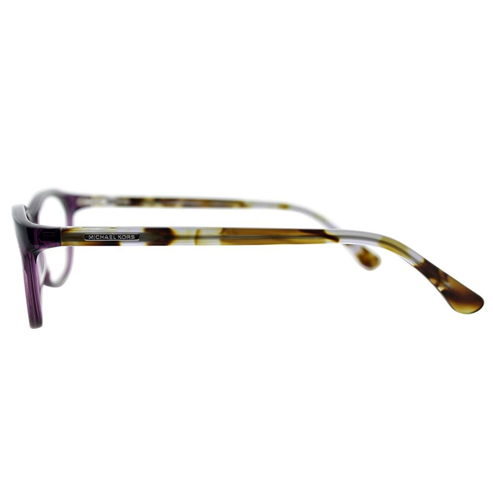17153e9b8677 Shop Michael Kors Womens MK 281 533 Plum Rectangle Plastic Eyeglasses-52mm  - Free Shipping Today - Overstock - 10809738